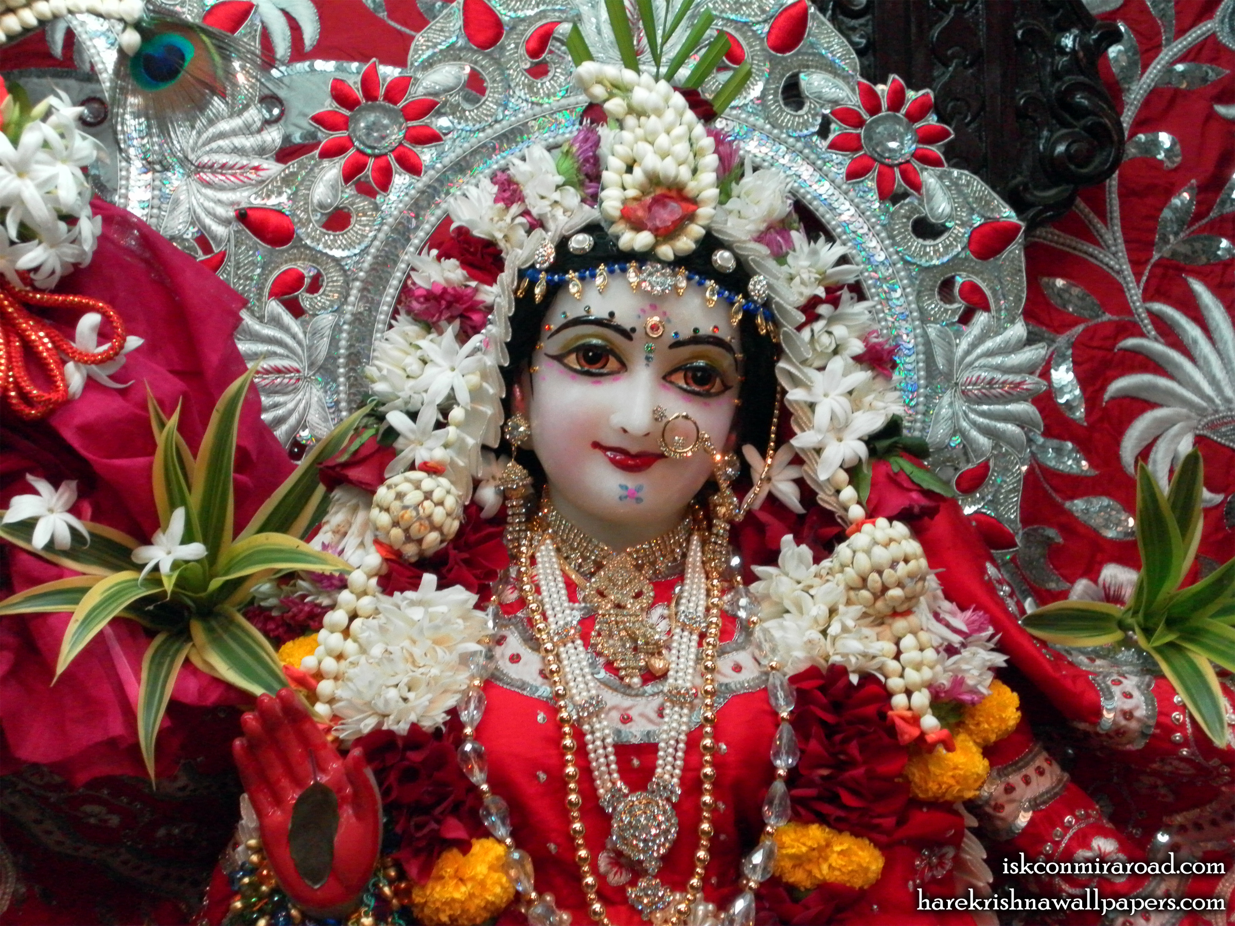 Sri Radha Close up Wallpaper (008) Size 2400x1800 Download