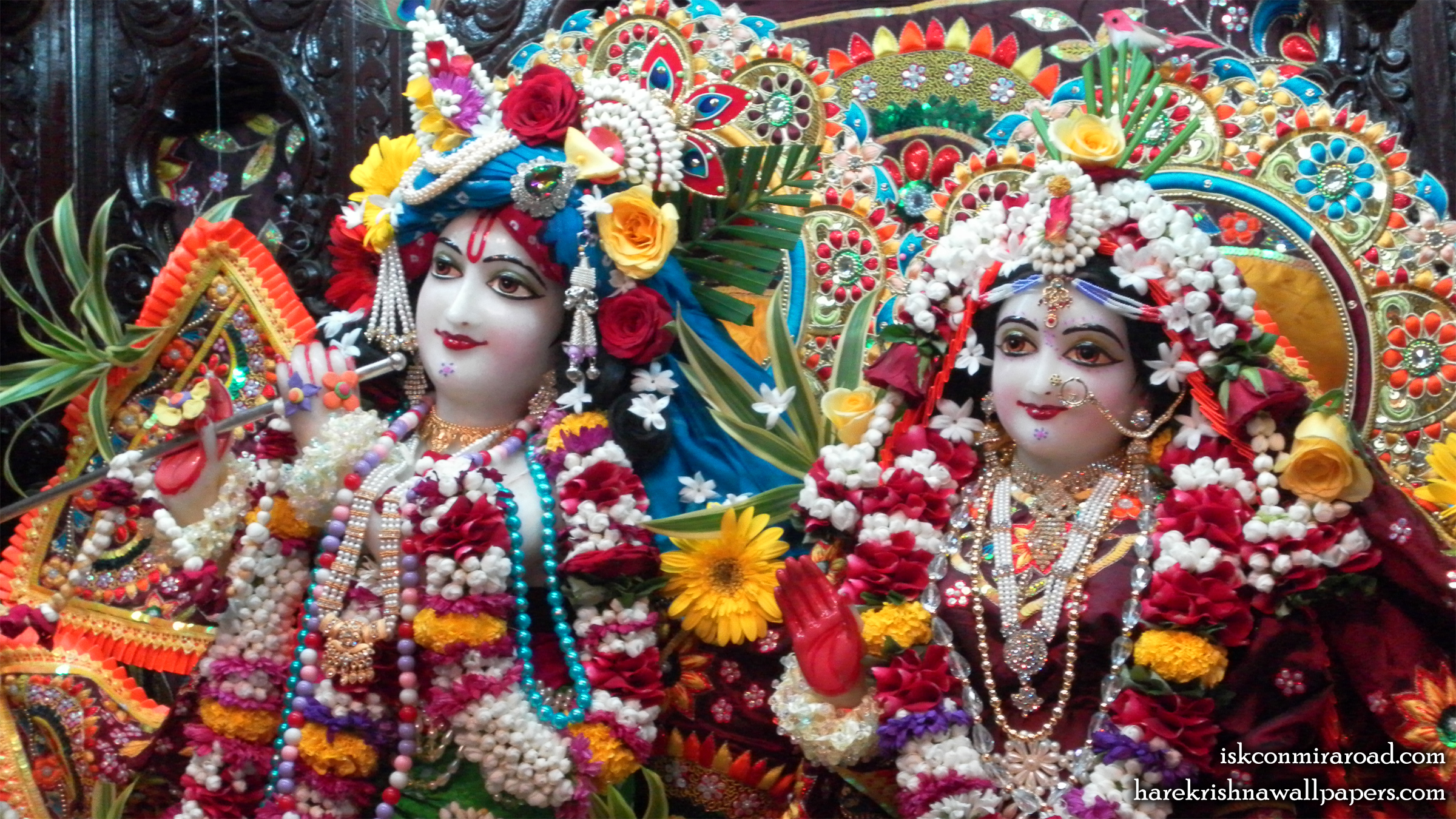 Sri Sri Radha Giridhari Close up Wallpaper (008) Size 2400x1350 Download