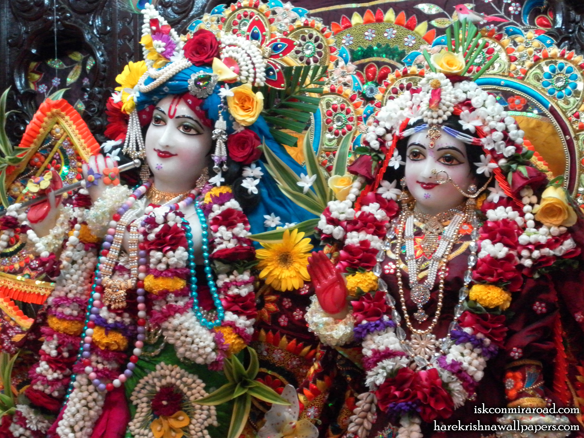 Sri Sri Radha Giridhari Close up Wallpaper (008) Size 2400x1800 Download