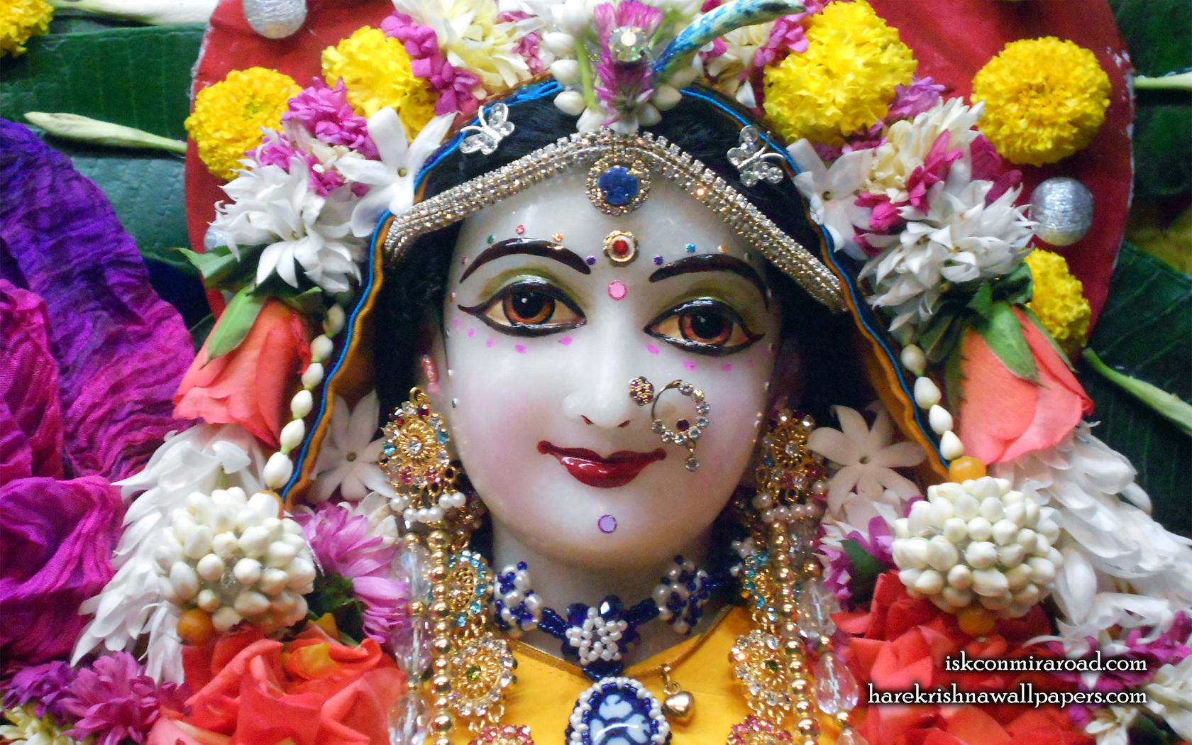 Sri Radha Close up Wallpaper (009) Size 1680x1050 Download