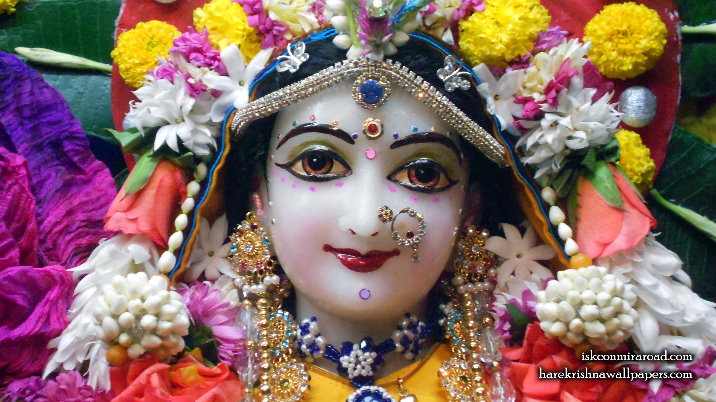Sri Radha Close up Wallpaper (009) Size 2400x1350 Download