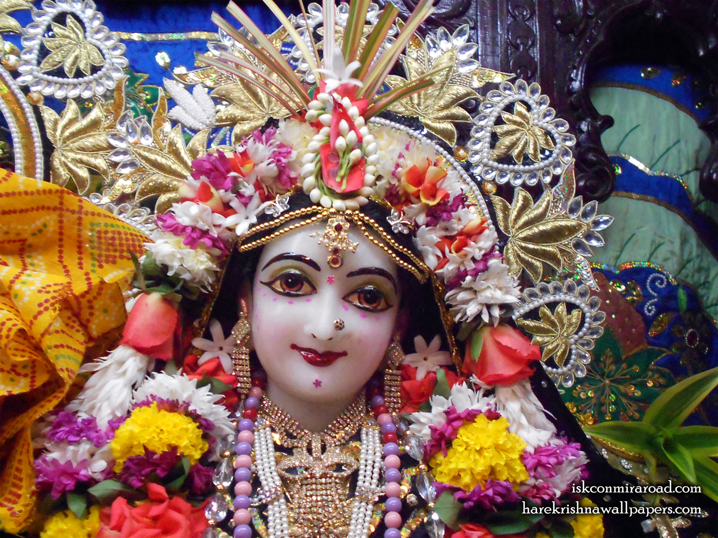 Sri Radha Close up Wallpaper (010) Size 1400x1050 Download