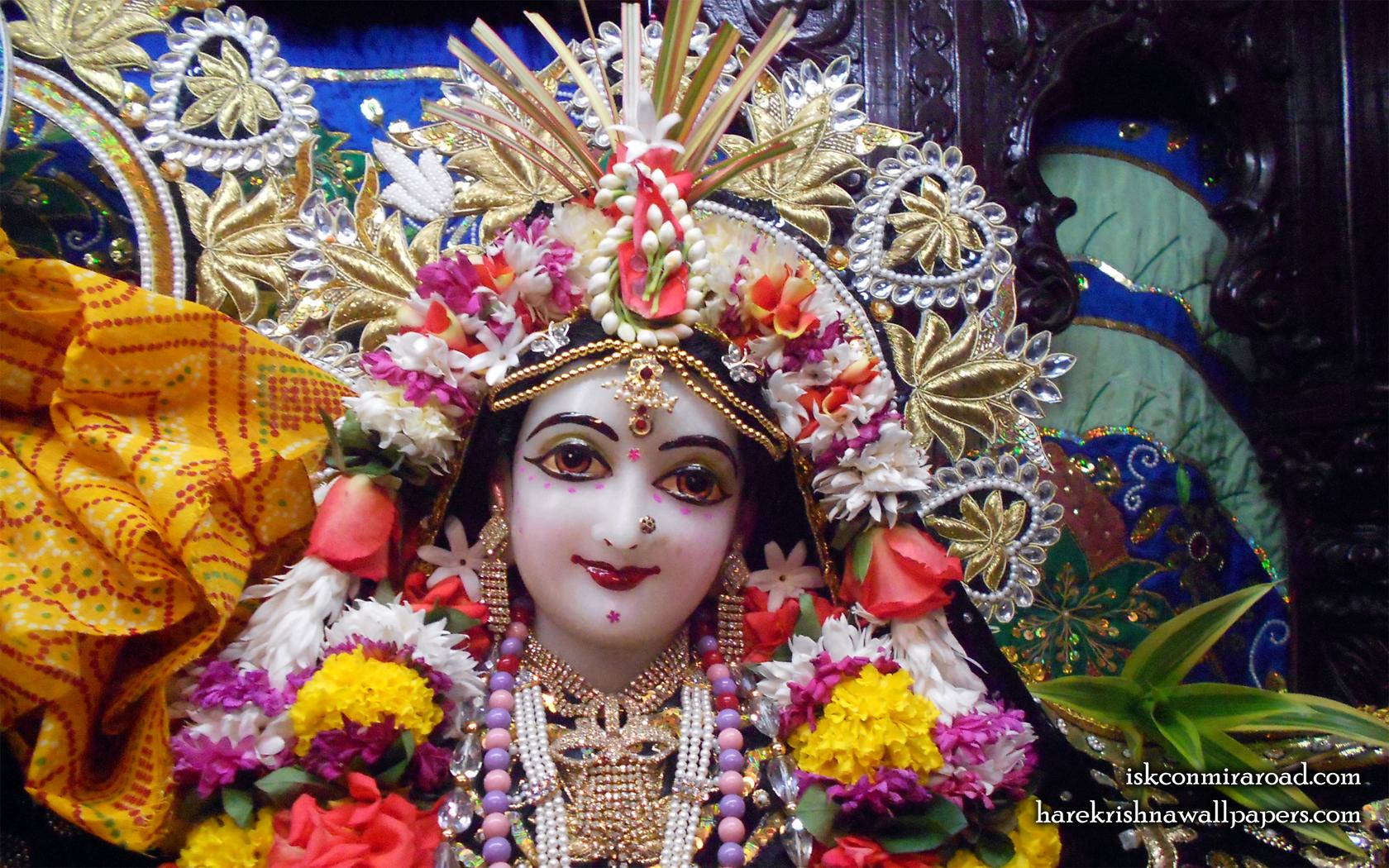Sri Radha Close up Wallpaper (010) Size 1680x1050 Download