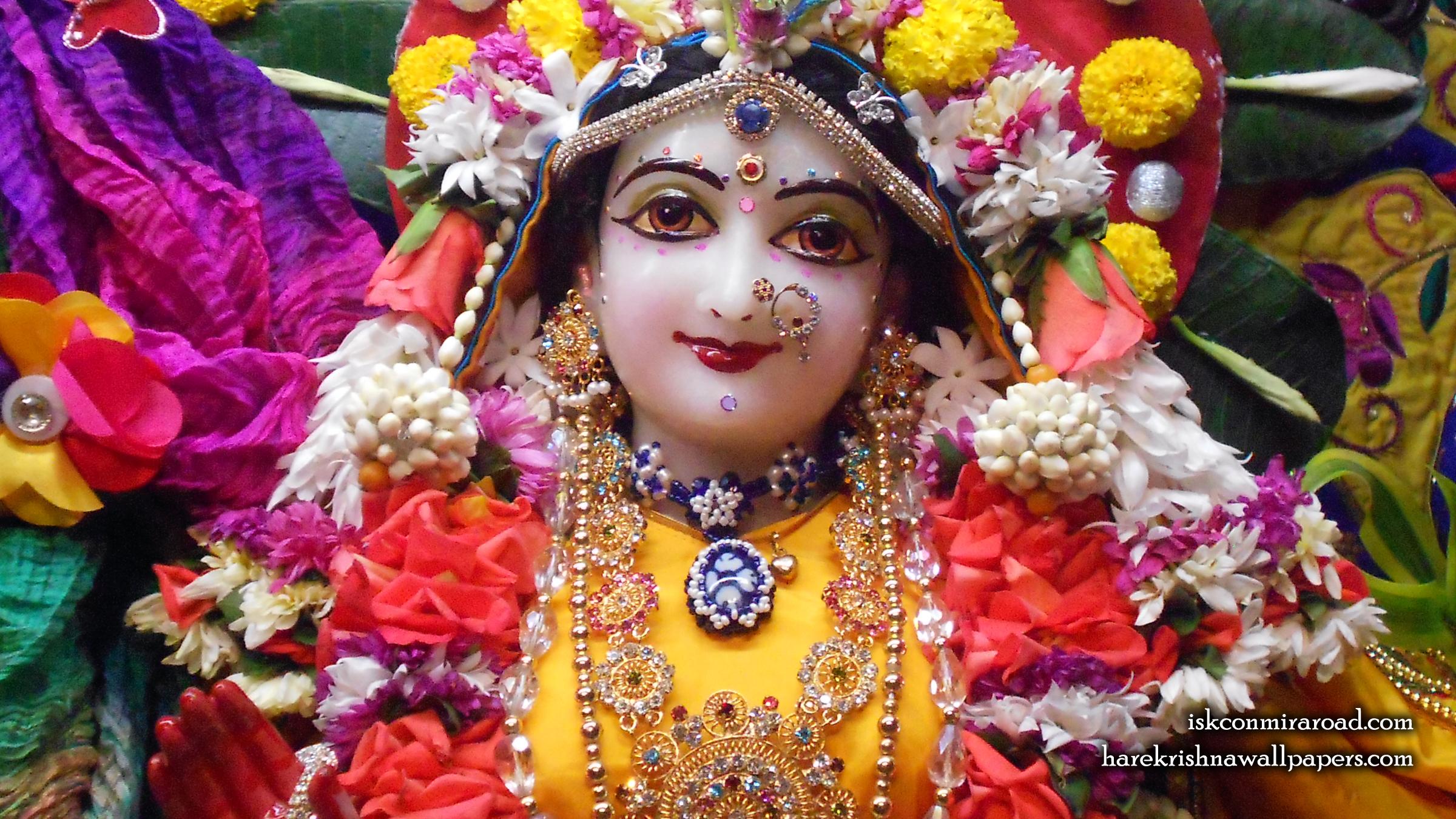 Sri Radha Close up Wallpaper (011) Size 2400x1350 Download