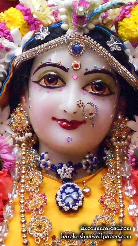 Sri Radha Close up Wallpaper (011) Size 450x800 Download