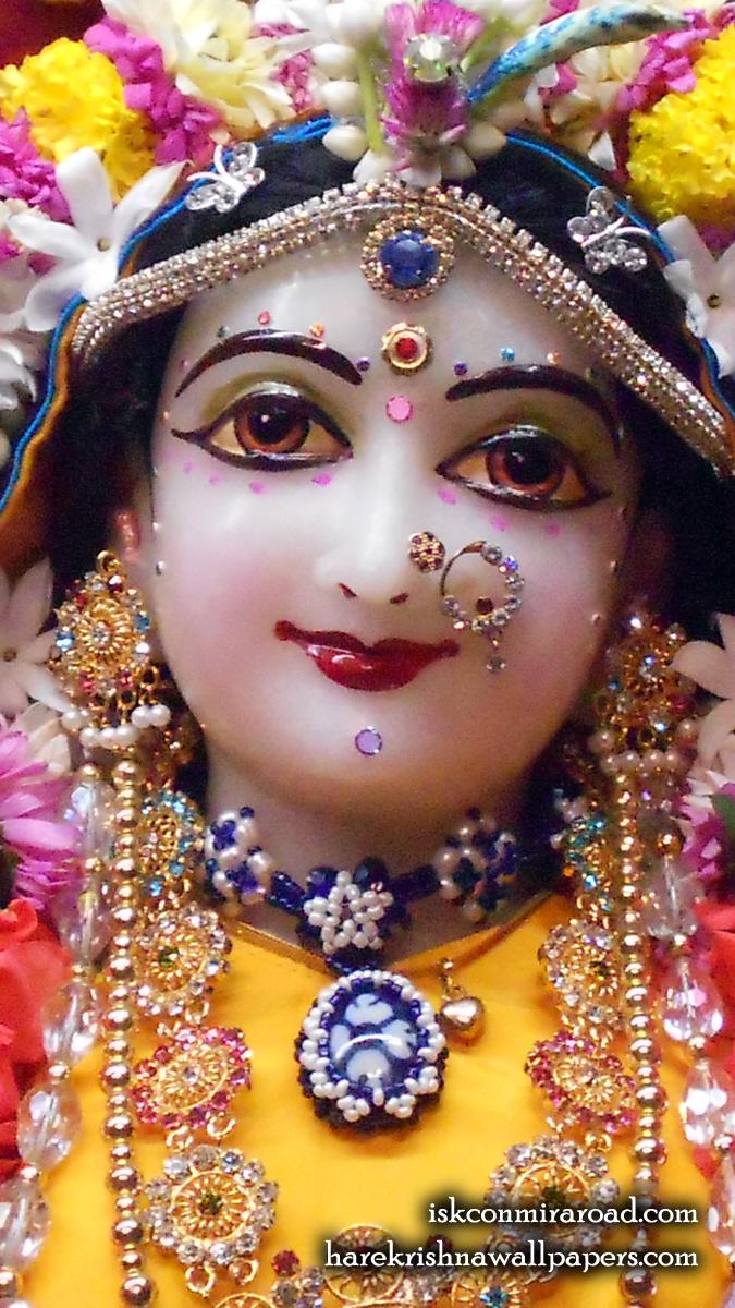 Sri Radha Close up Wallpaper (011) Size 675x1200 Download