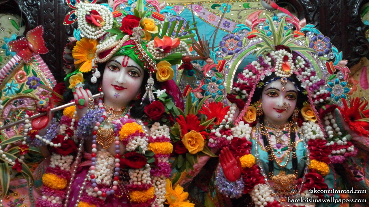 Sri Sri Radha Giridhari Close up Wallpaper (012) Size 1280x720 Download