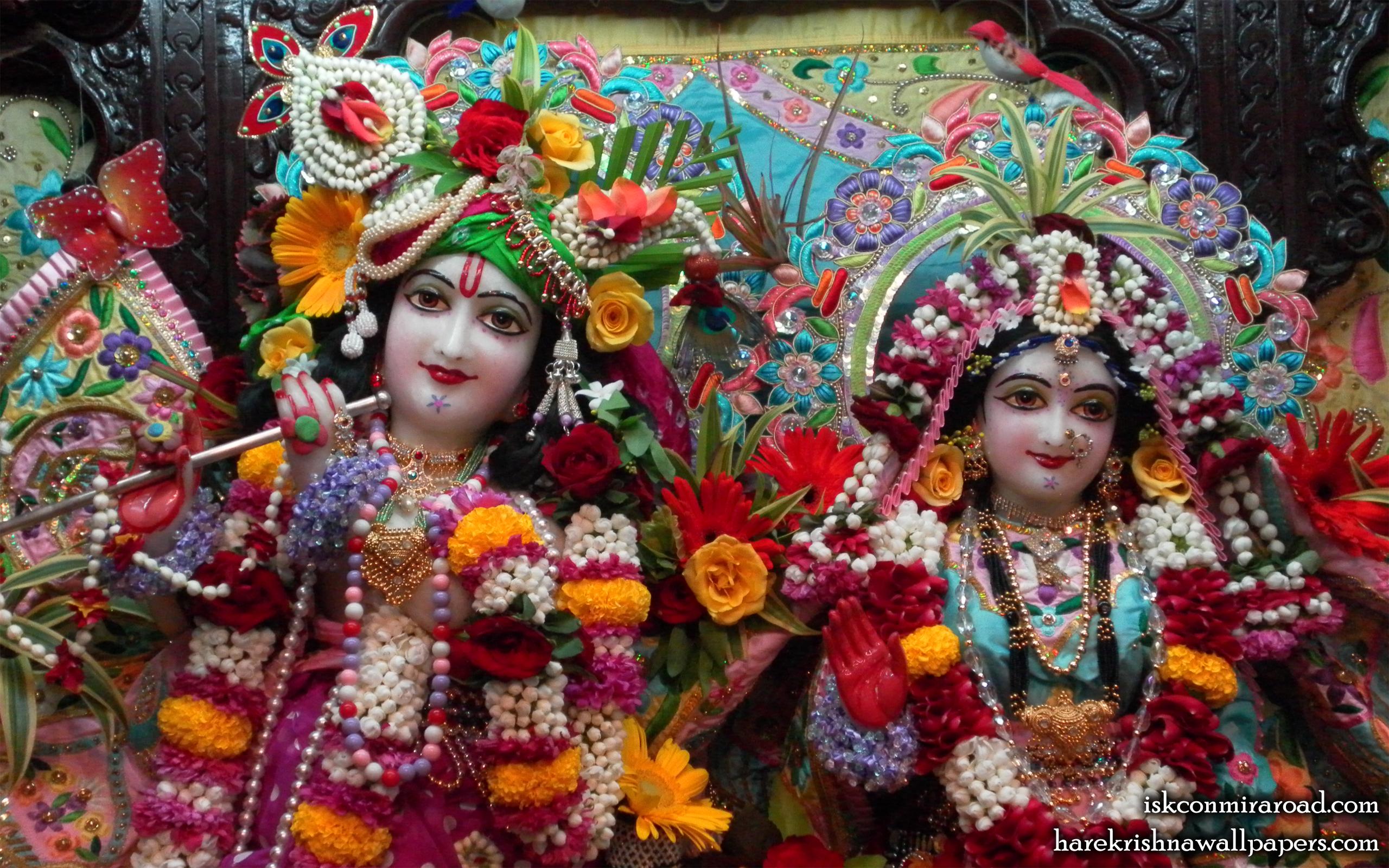 Sri Sri Radha Giridhari Close up Wallpaper (012) Size 2560x1600 Download