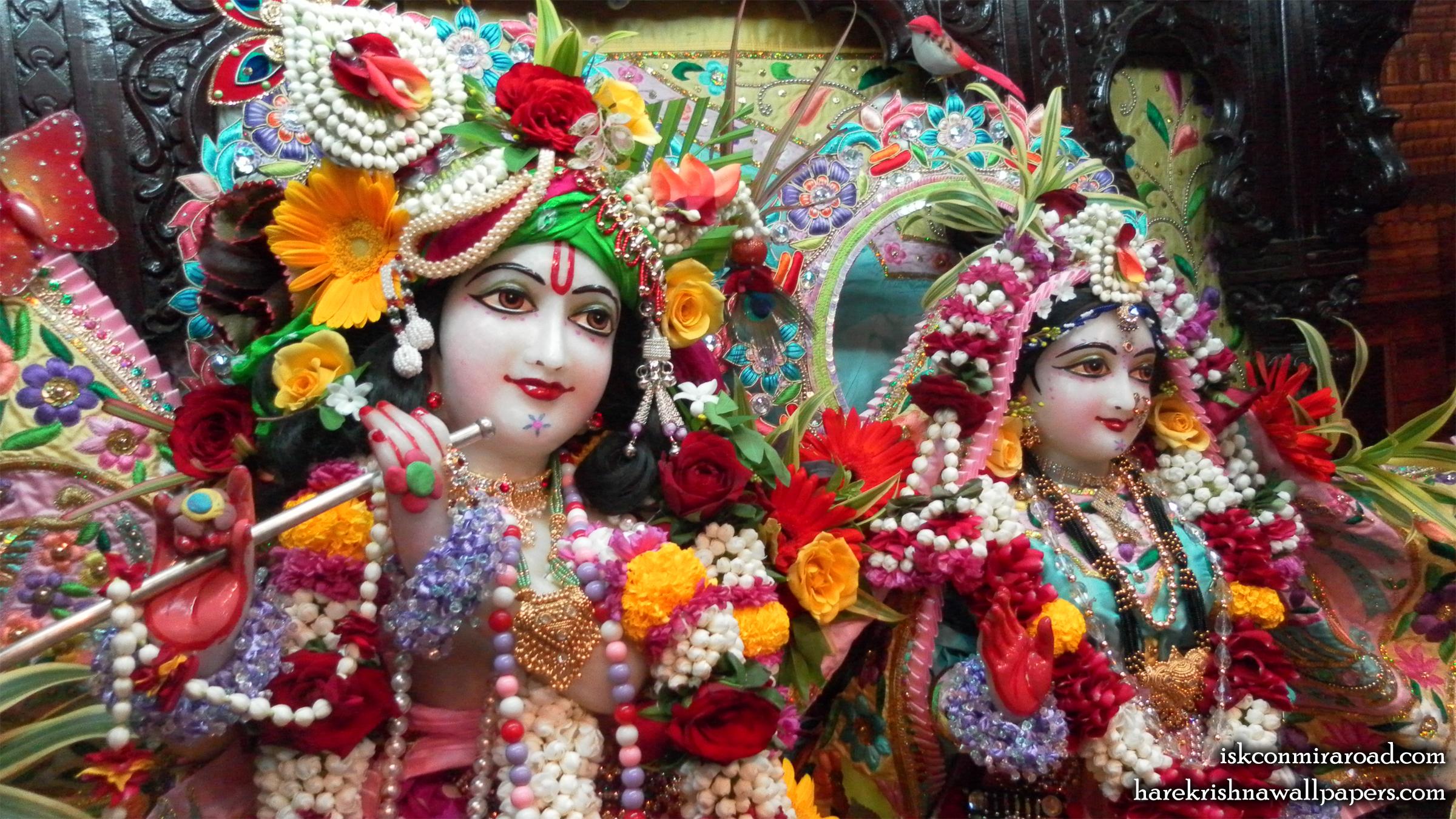 Sri Sri Radha Giridhari Close up Wallpaper (013) Size 2400x1350 Download