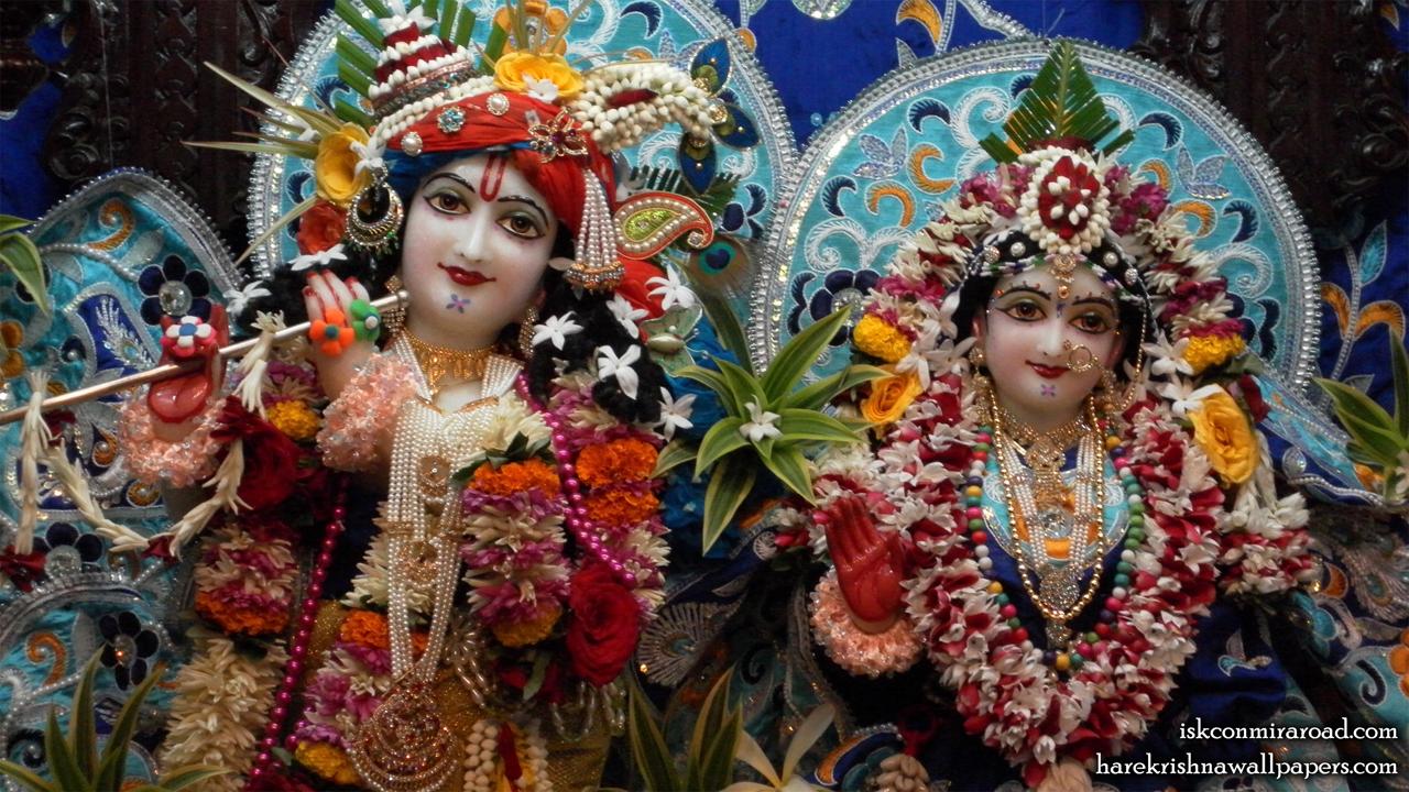 Sri Sri Radha Giridhari Close up Wallpaper (014) Size 1280x720 Download