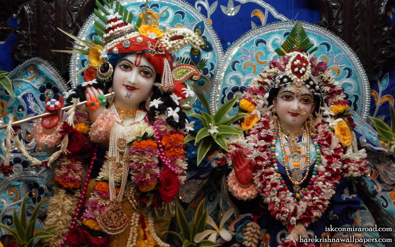 Sri Sri Radha Giridhari Close up Wallpaper (014) Size 1280x800 Download