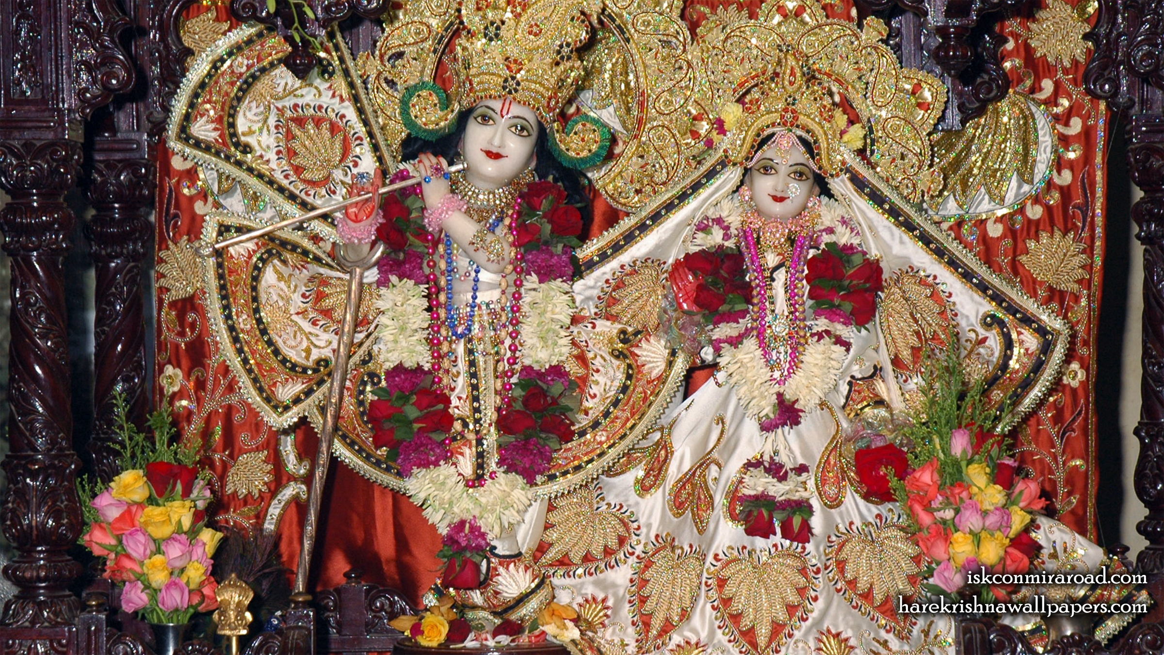 Sri Sri Radha Giridhari Wallpaper (015) Size 2400x1350 Download