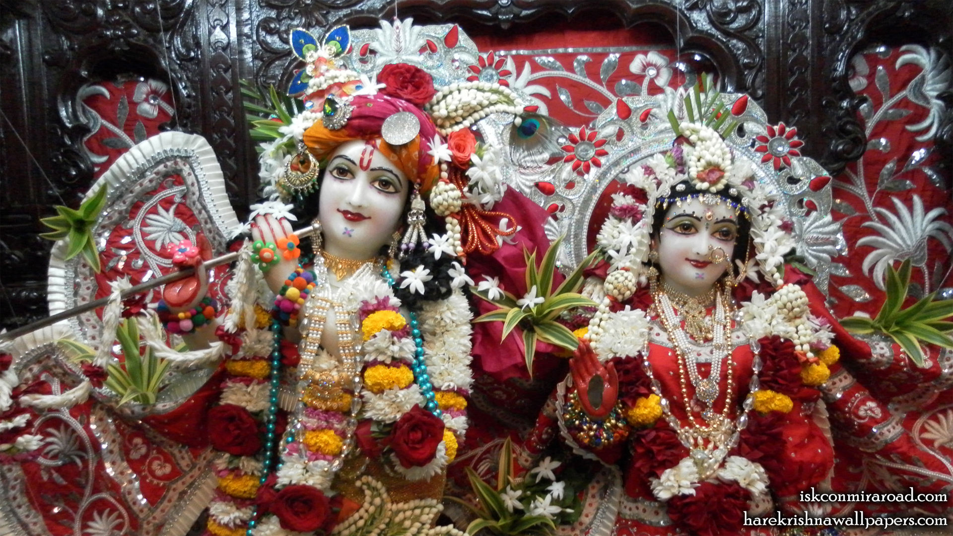 Sri Sri Radha Giridhari Close up Wallpaper (016) Size 1920x1080 Download