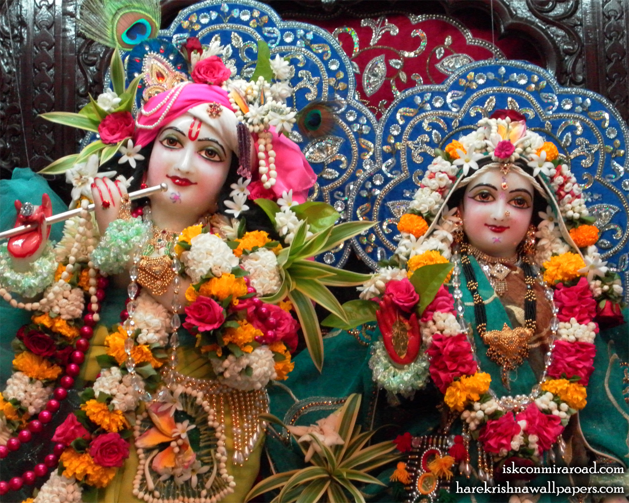 Sri Sri Radha Giridhari Close up Wallpaper (017) Size 1280x1024 Download