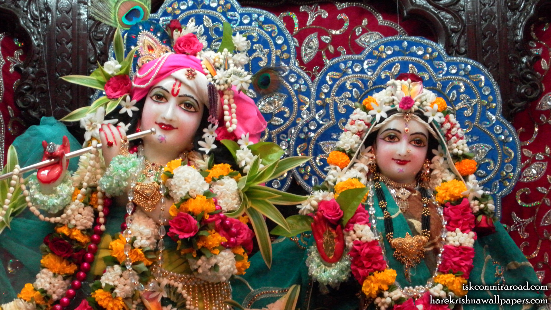 Sri Sri Radha Giridhari Close up Wallpaper (017) Size 1920x1080 Download