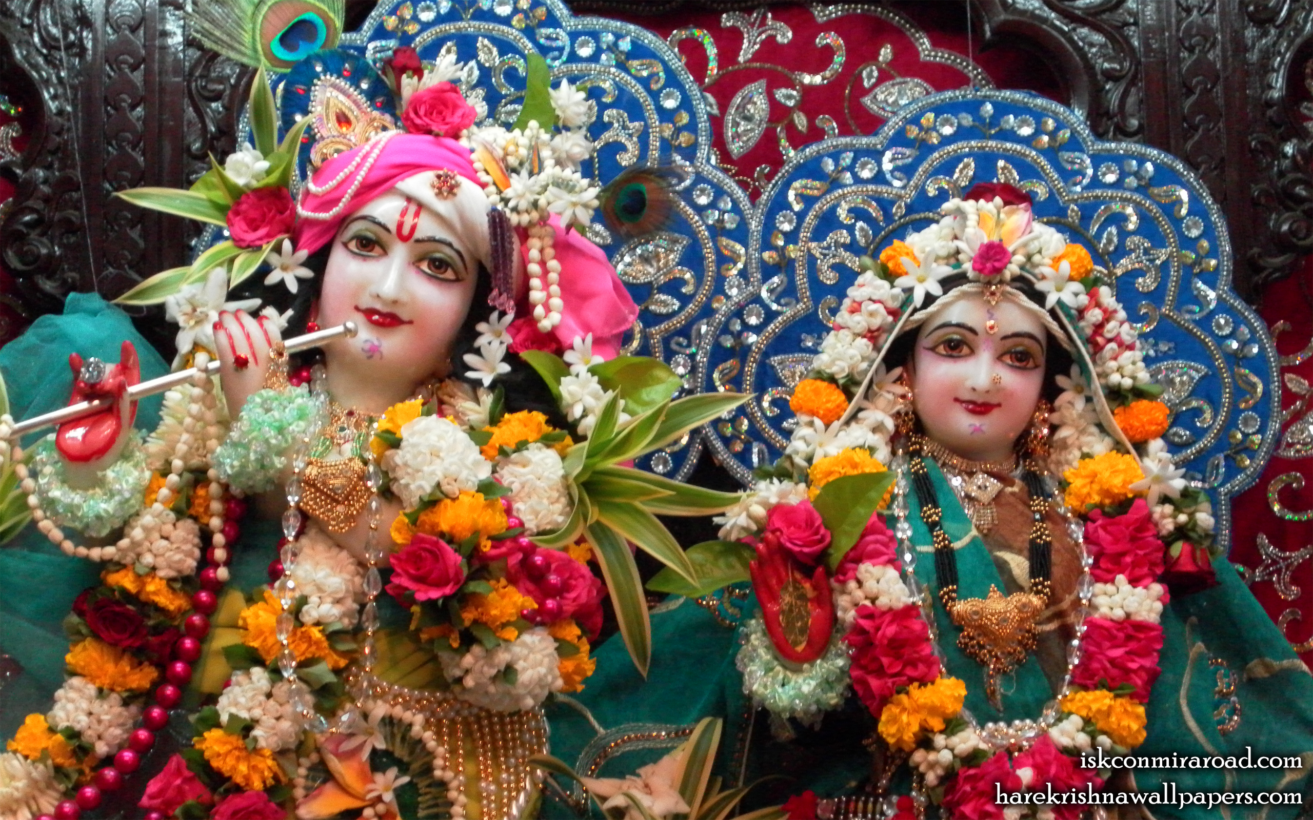 Sri Sri Radha Giridhari Close up Wallpaper (017) Size 2560x1600 Download