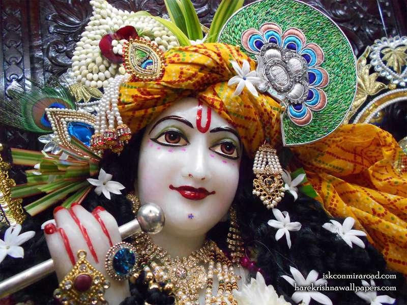 Sri Giridhari Close up Wallpaper (018)