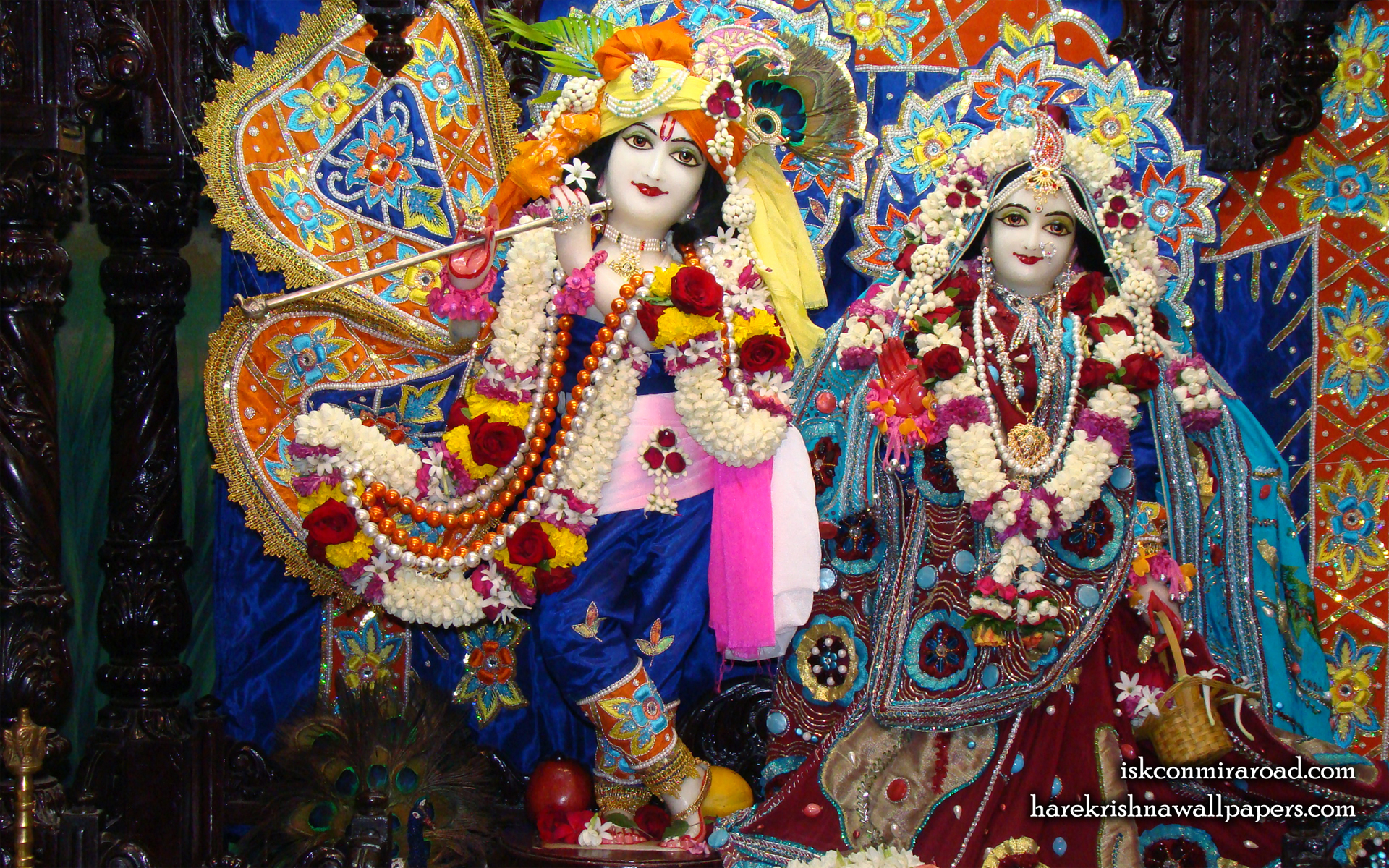 Sri Sri Radha Giridhari Wallpaper (018) Size 1920x1200 Download