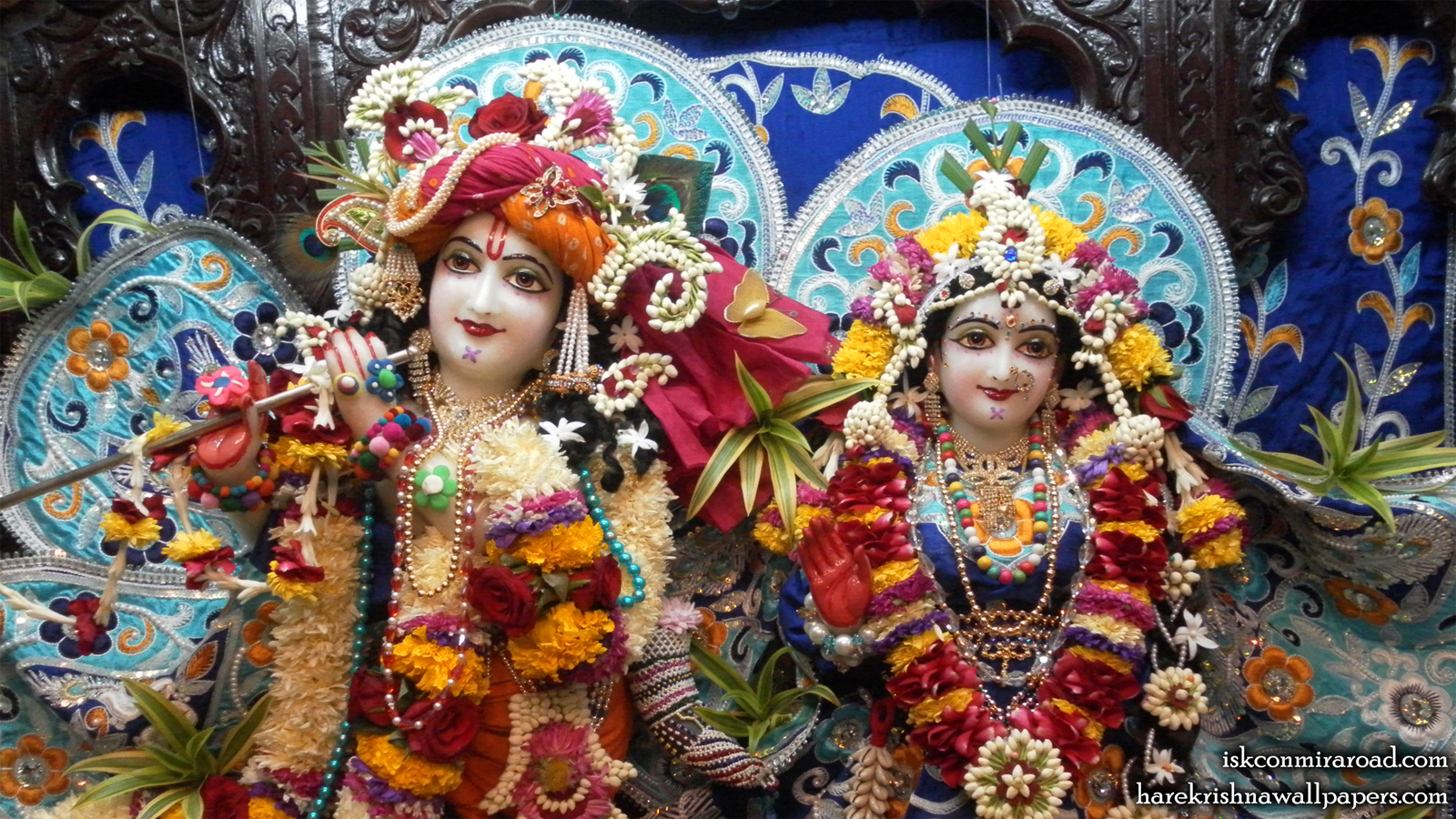 Sri Sri Radha Giridhari Close up Wallpaper (018) Size 1600x900 Download