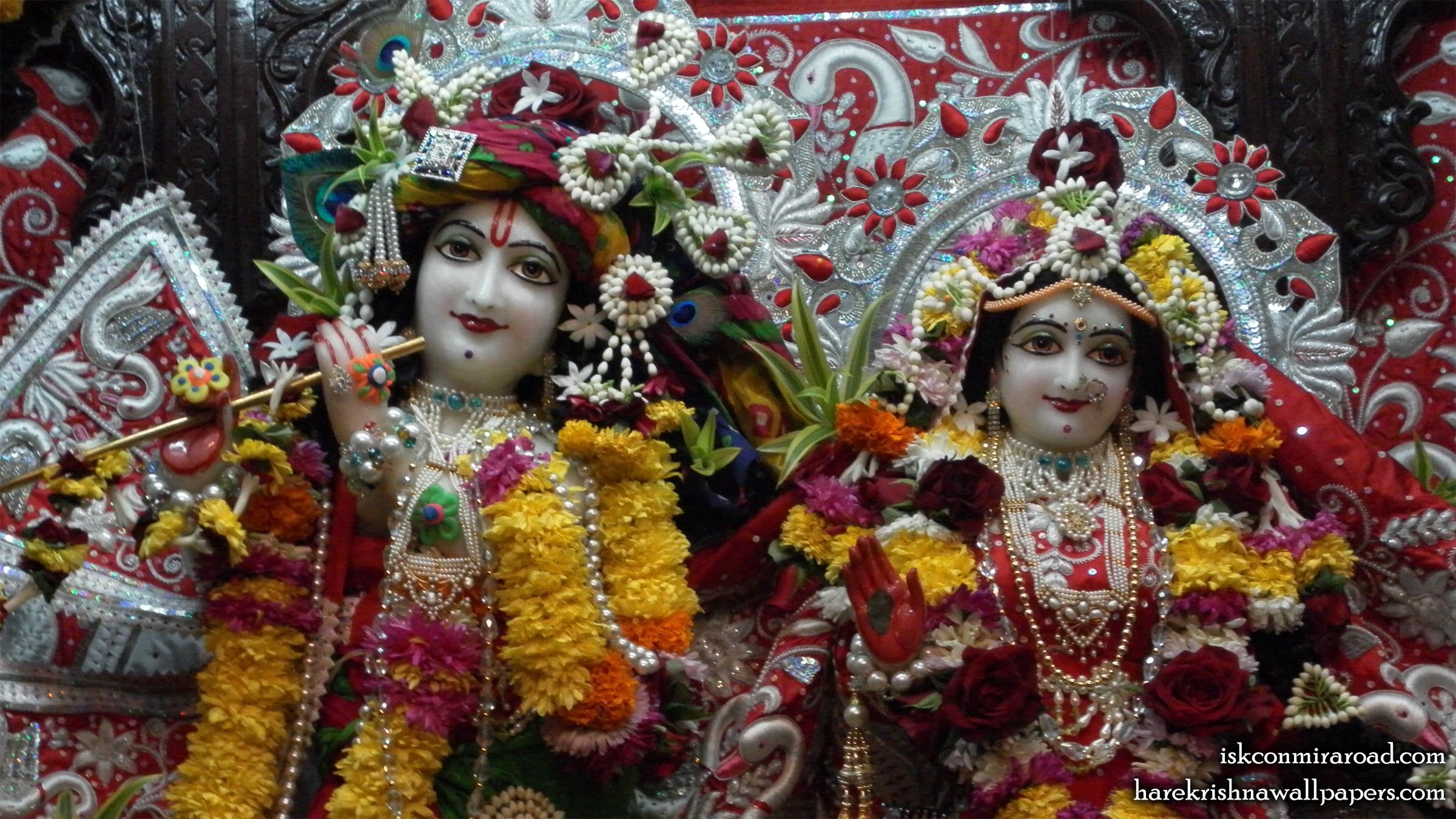 Sri Sri Radha Giridhari Close up Wallpaper (021) Size 2400x1350 Download