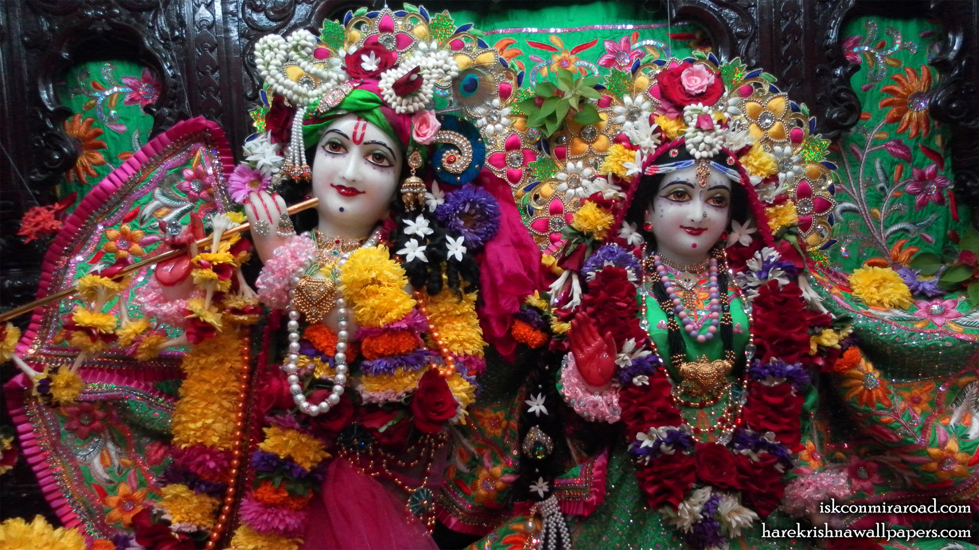 Sri Sri Radha Giridhari Close up Wallpaper (023) Size 1920x1080 Download