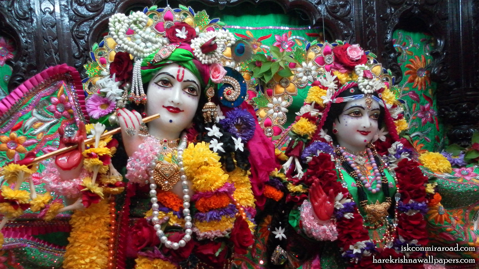 Sri Sri Radha Giridhari Close up Wallpaper (024) Size 1600x900 Download