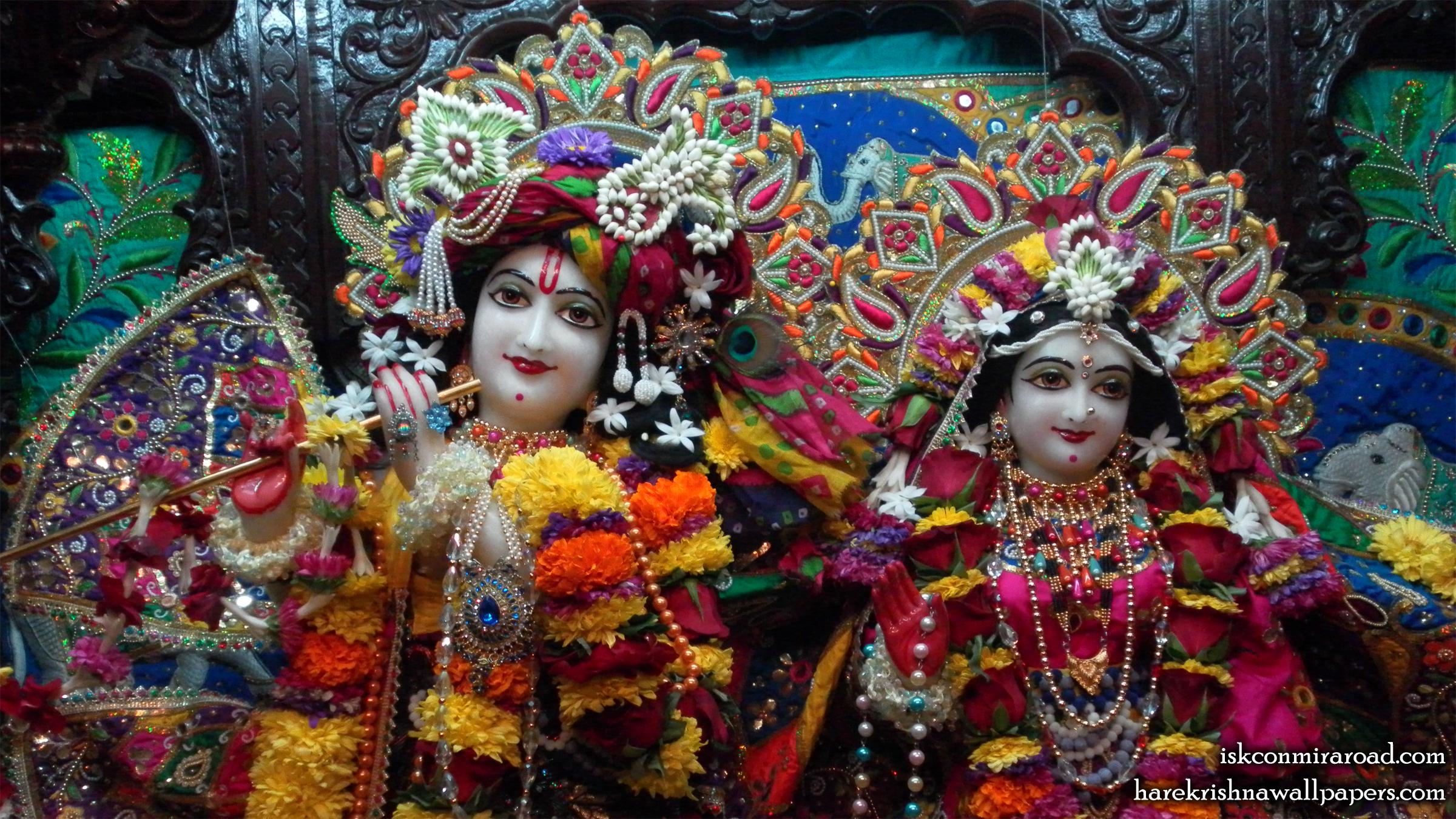 Sri Sri Radha Giridhari Close up Wallpaper (025) Size 2400x1350 Download
