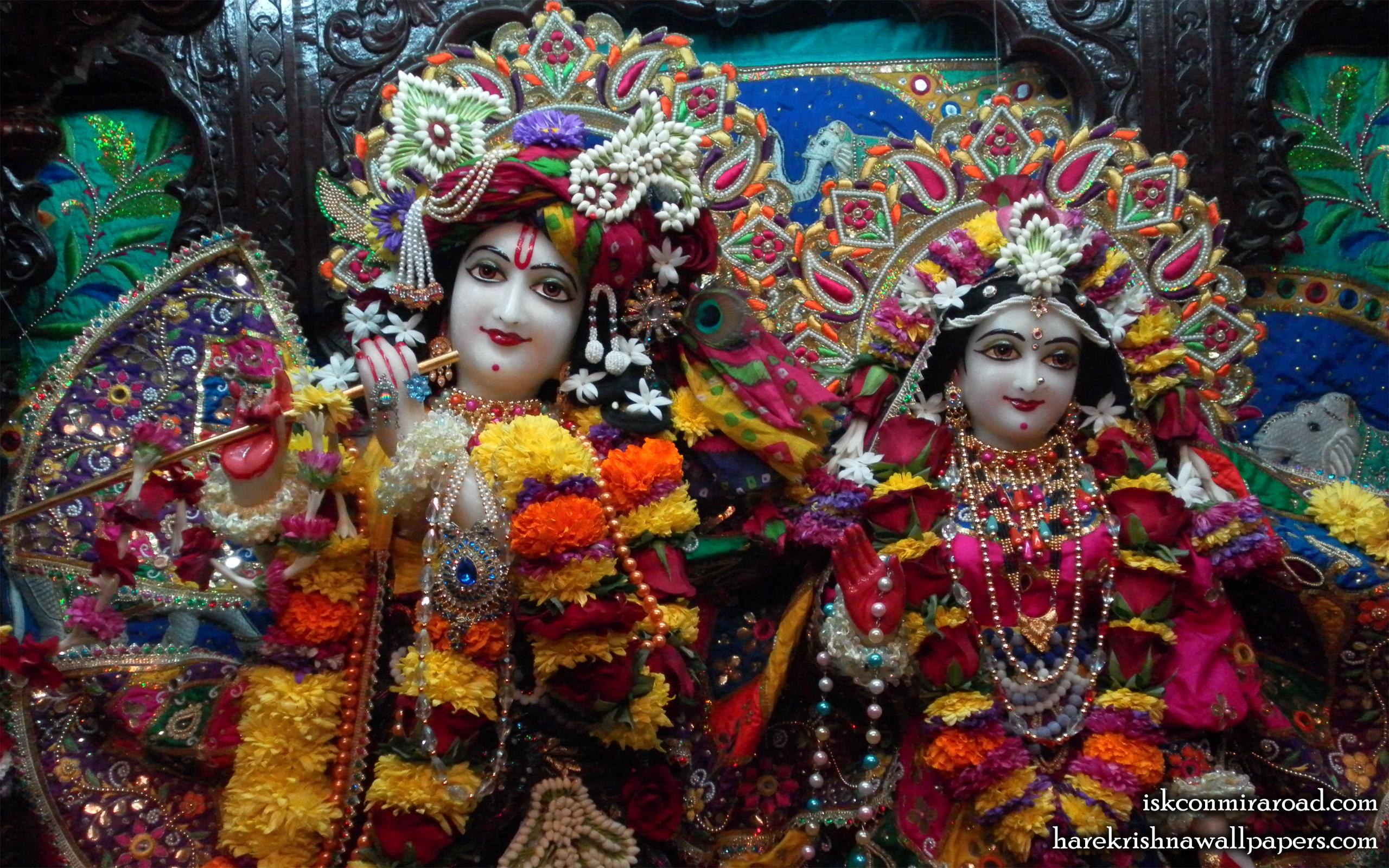 Sri Sri Radha Giridhari Close up Wallpaper (025) Size 2560x1600 Download