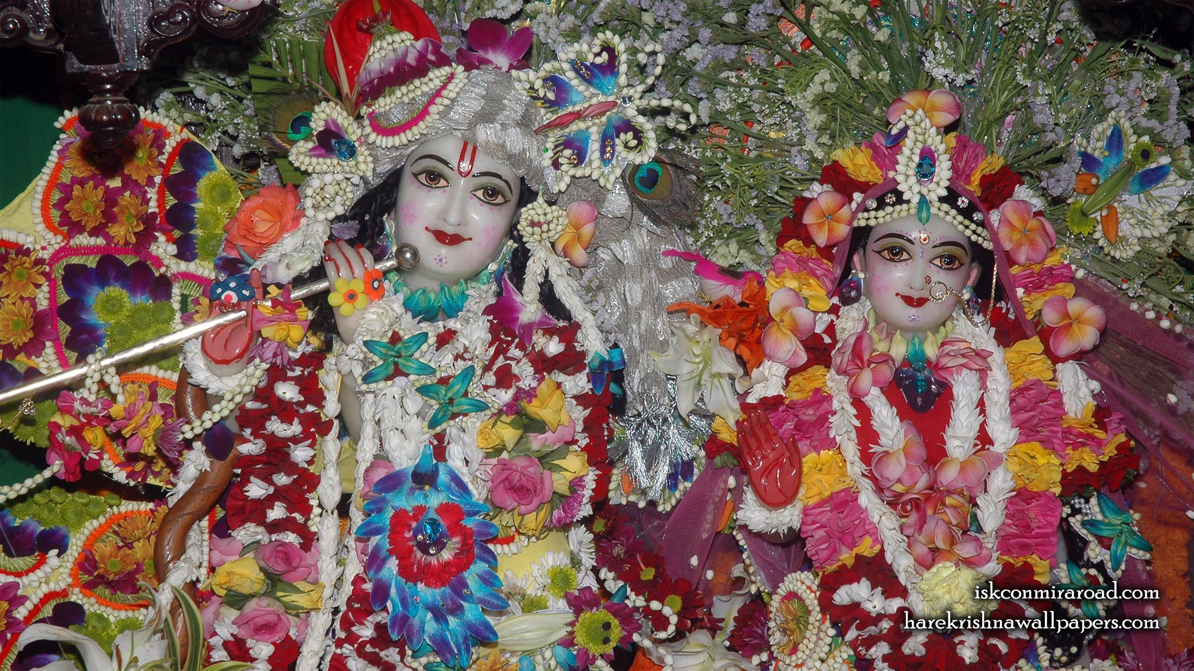Sri Sri Radha Giridhari Close up Wallpaper (026) Size 2400x1350 Download
