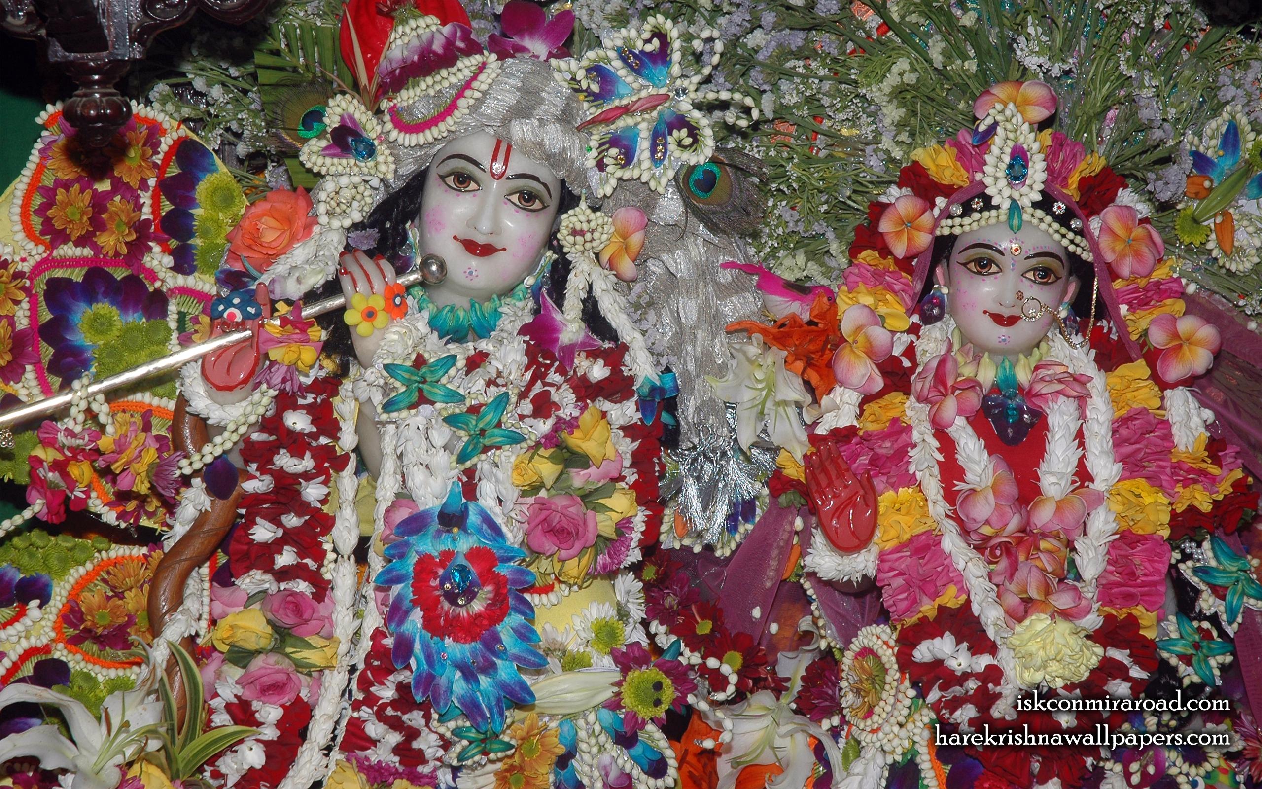 Sri Sri Radha Giridhari Close up Wallpaper (026) Size 2560x1600 Download