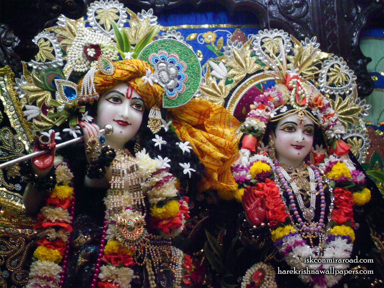 Sri Sri Radha Giridhari Close up Wallpaper (027) Size 1280x960 Download