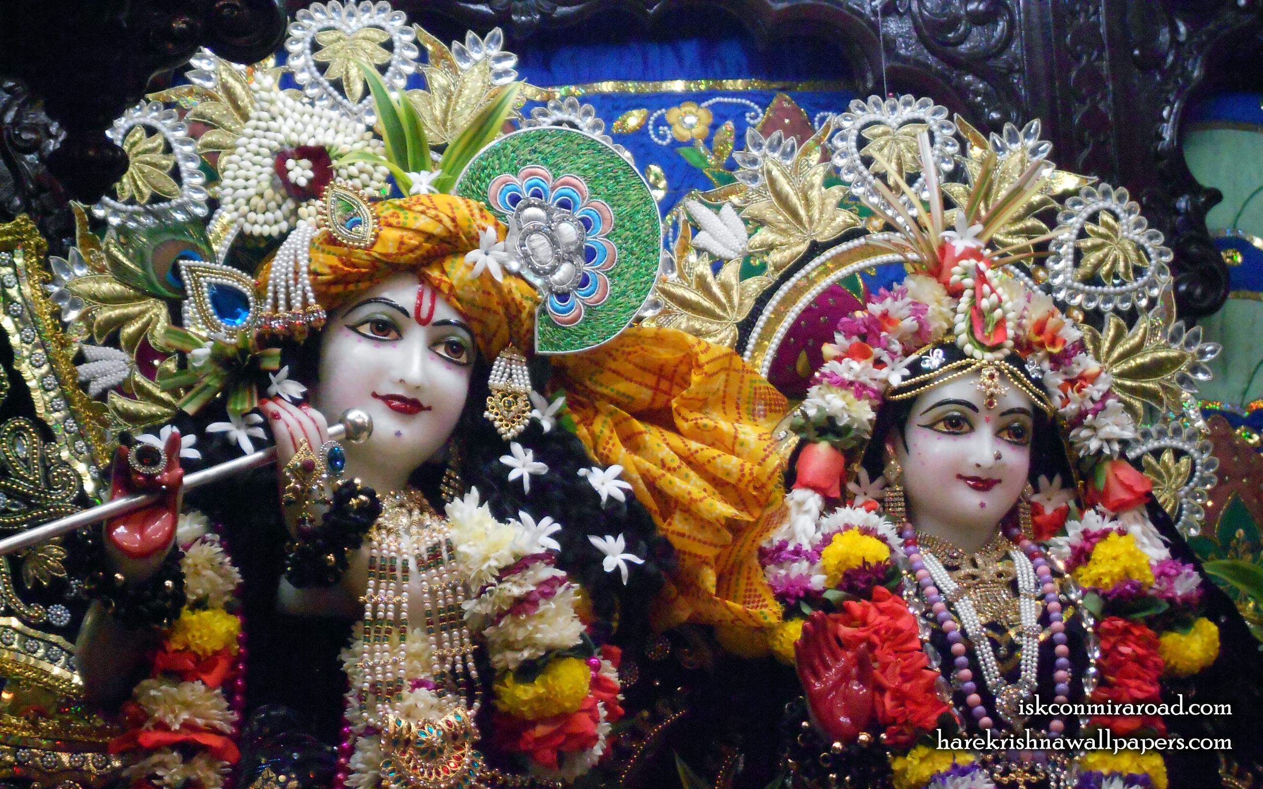 Sri Sri Radha Giridhari Close up Wallpaper (027) Size 2560x1600 Download