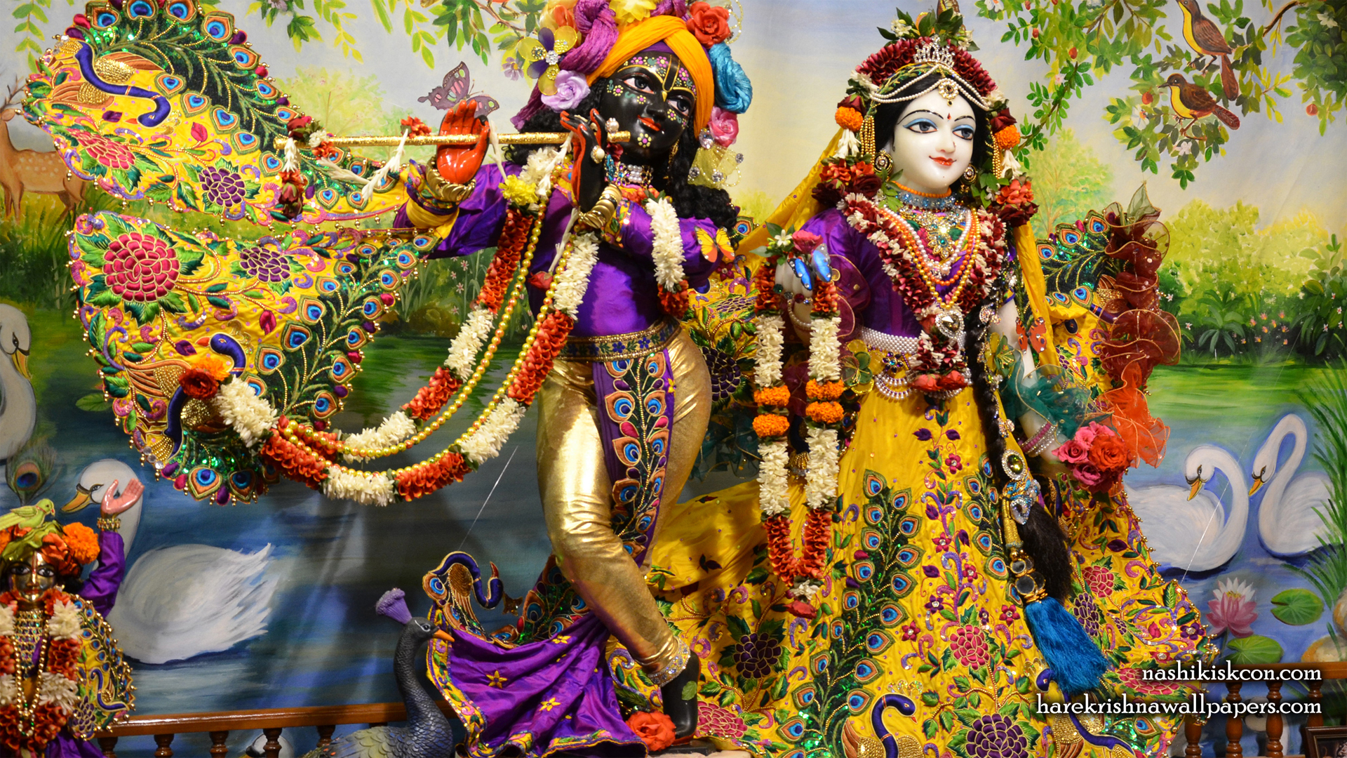 Sri Sri Radha Madan Gopal Wallpaper (001) Size 1920x1080 Download