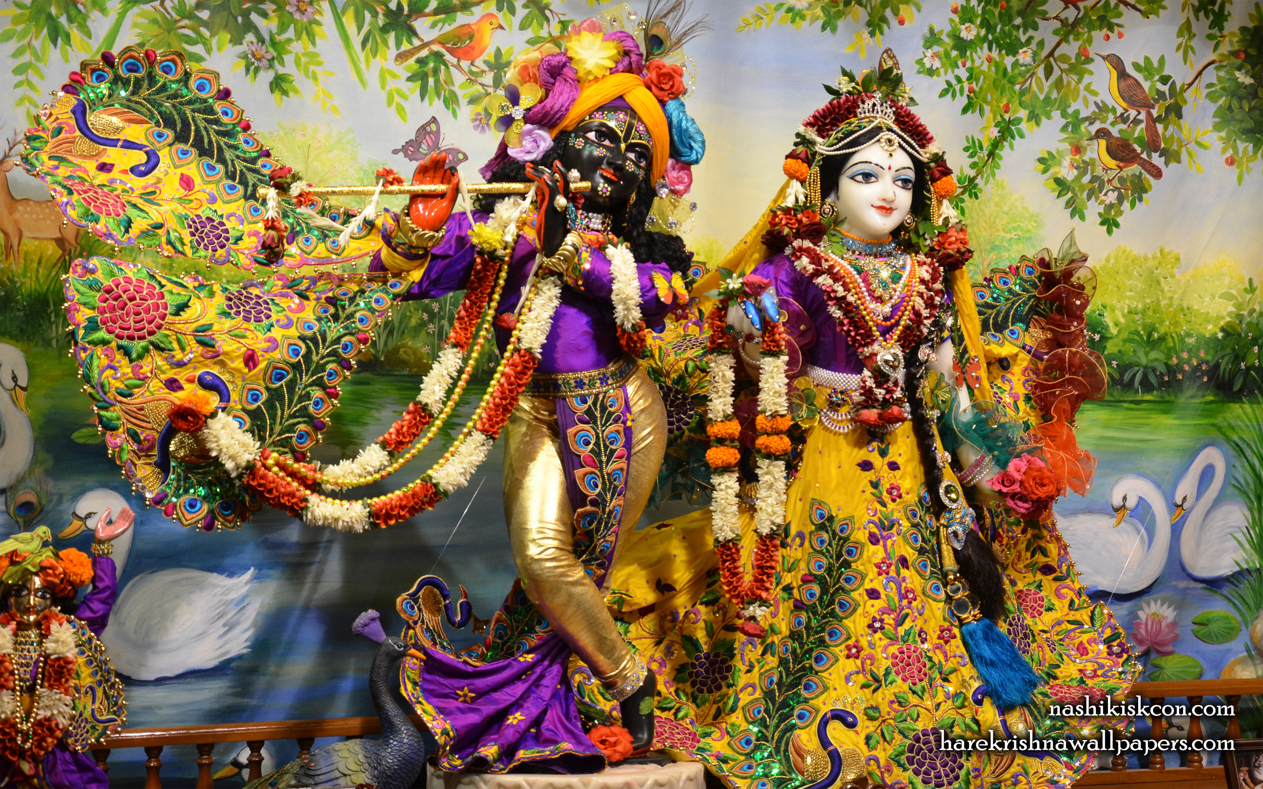 Sri Sri Radha Madan Gopal Wallpaper (001) Size 2560x1600 Download