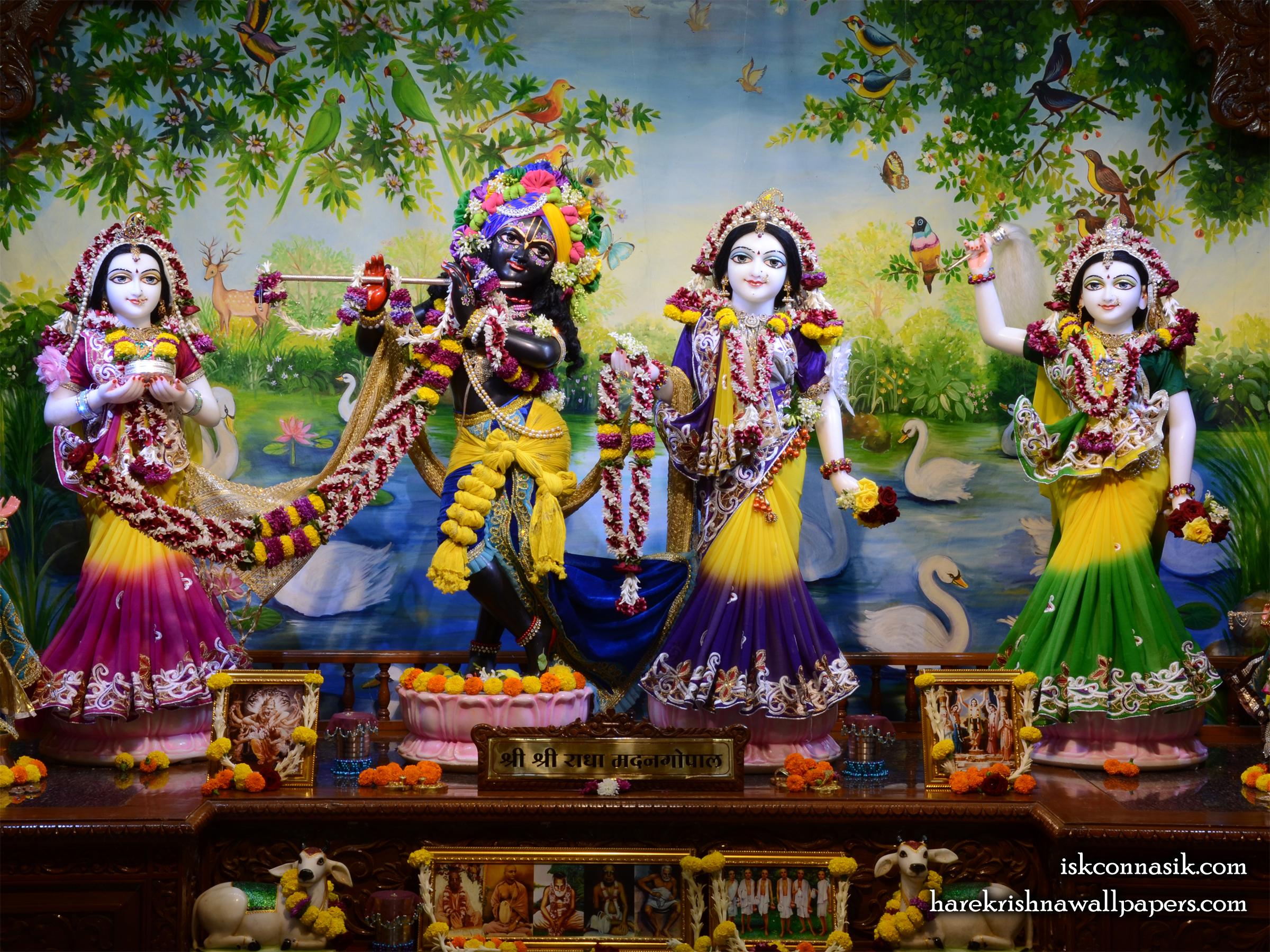 Sri Sri Radha Madan Gopal Lalita Vishakha Wallpaper (001) Size 2400x1800 Download