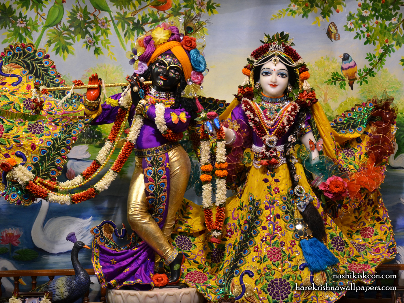 Sri Sri Radha Madan Gopal Wallpaper (002) Size 1400x1050 Download