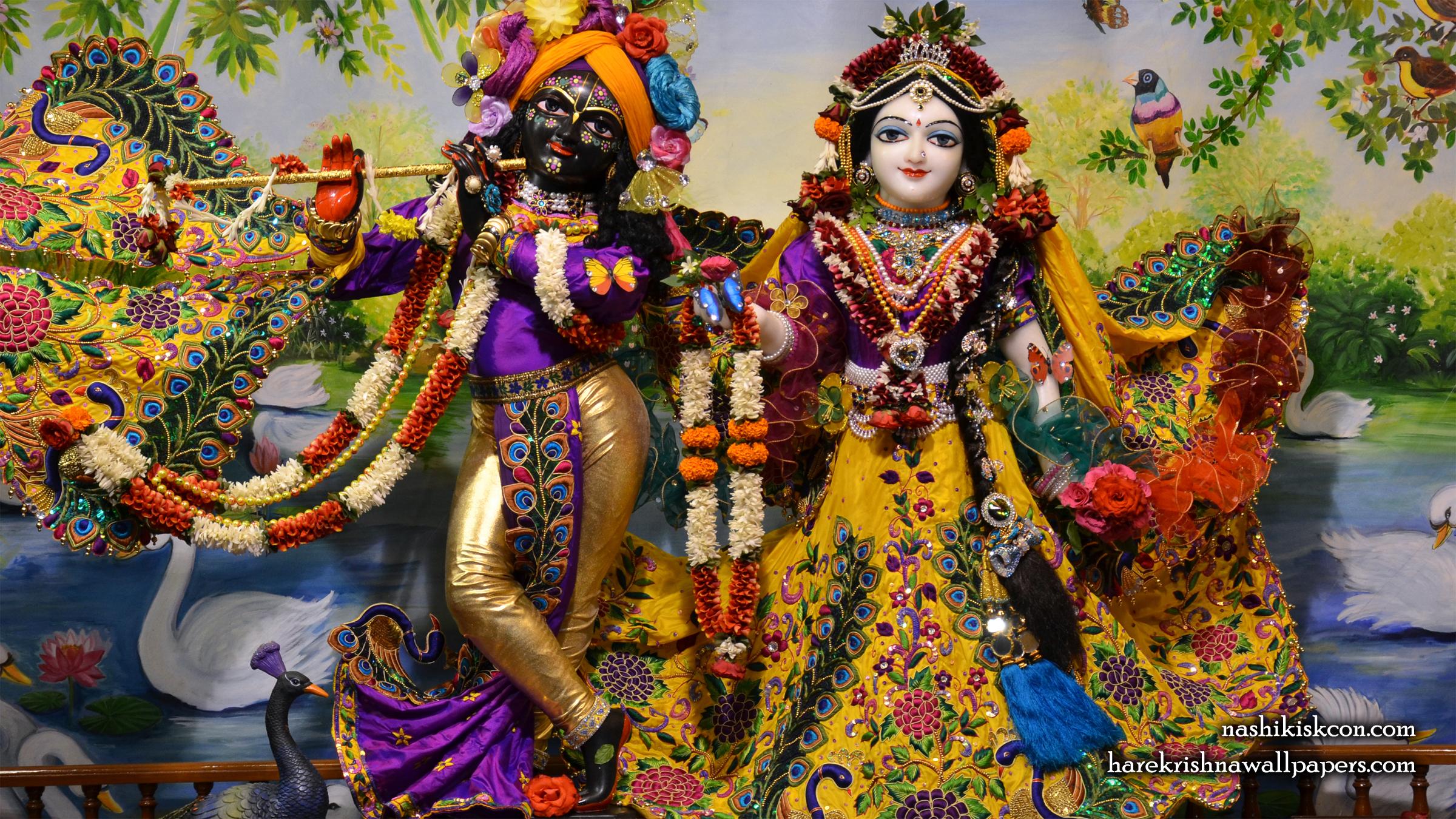 Sri Sri Radha Madan Gopal Wallpaper (002) Size 2400x1350 Download