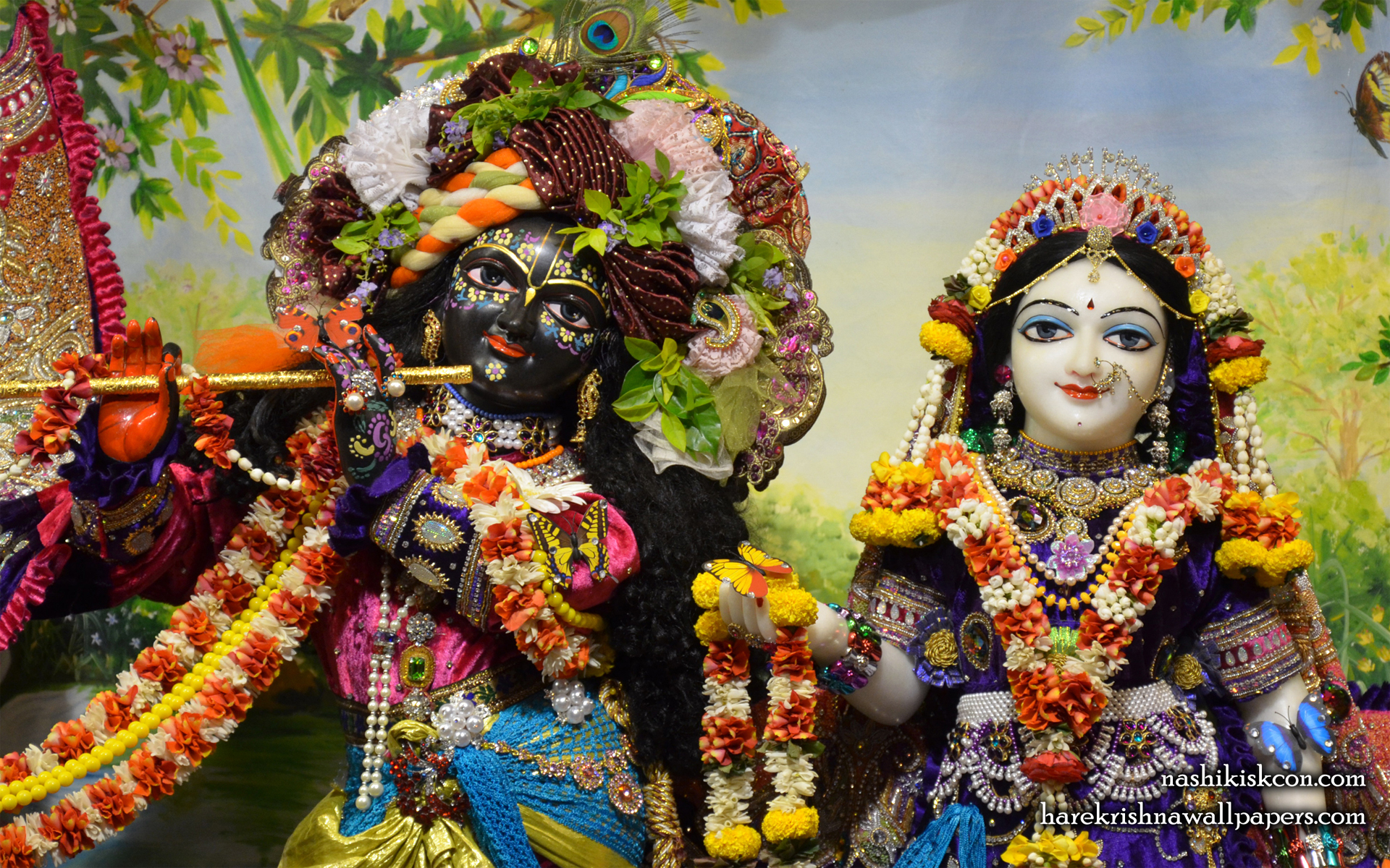 Sri Sri Radha Madan Gopal Close up Wallpaper (002) Size 1920x1200 Download
