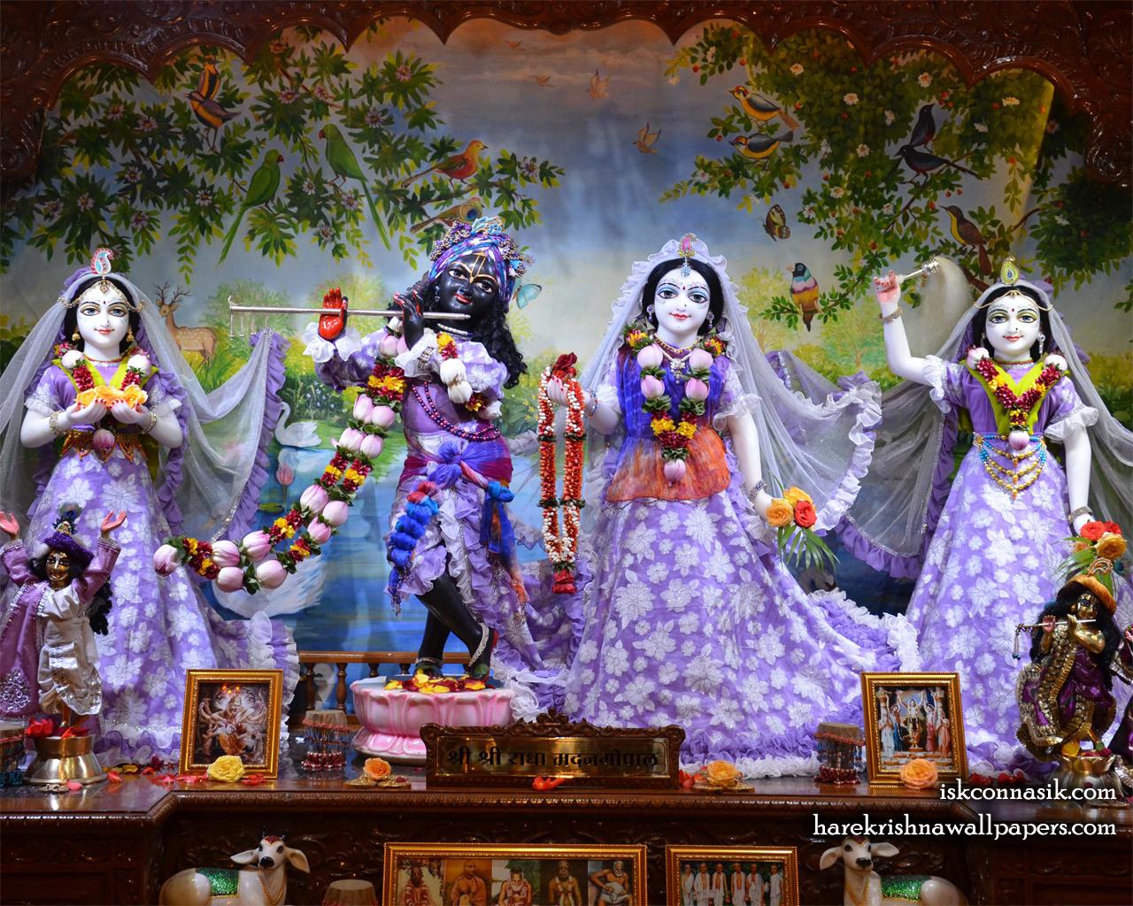 Sri Sri Radha Madan Gopal Lalita Vishakha Wallpaper (002) Size 1280x1024 Download