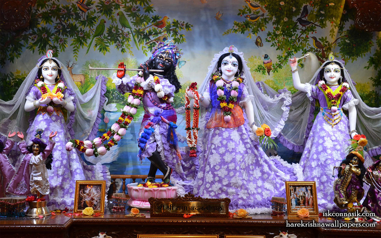 Sri Sri Radha Madan Gopal Lalita Vishakha Wallpaper (002) Size 1280x800 Download