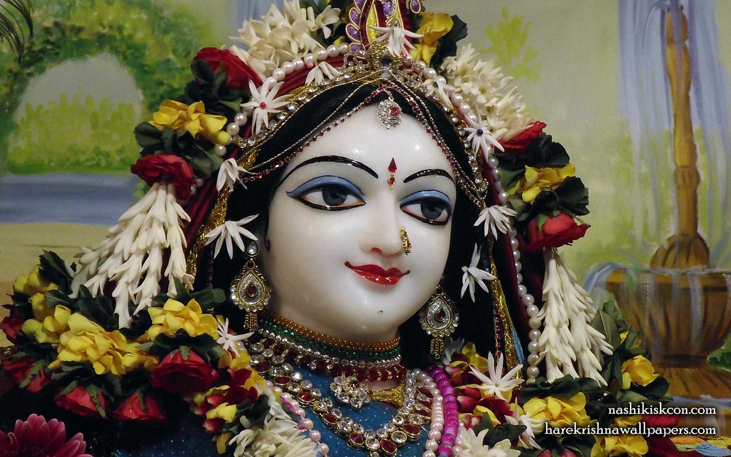 Sri Radha Close up Wallpaper (003) Size 1440x900 Download