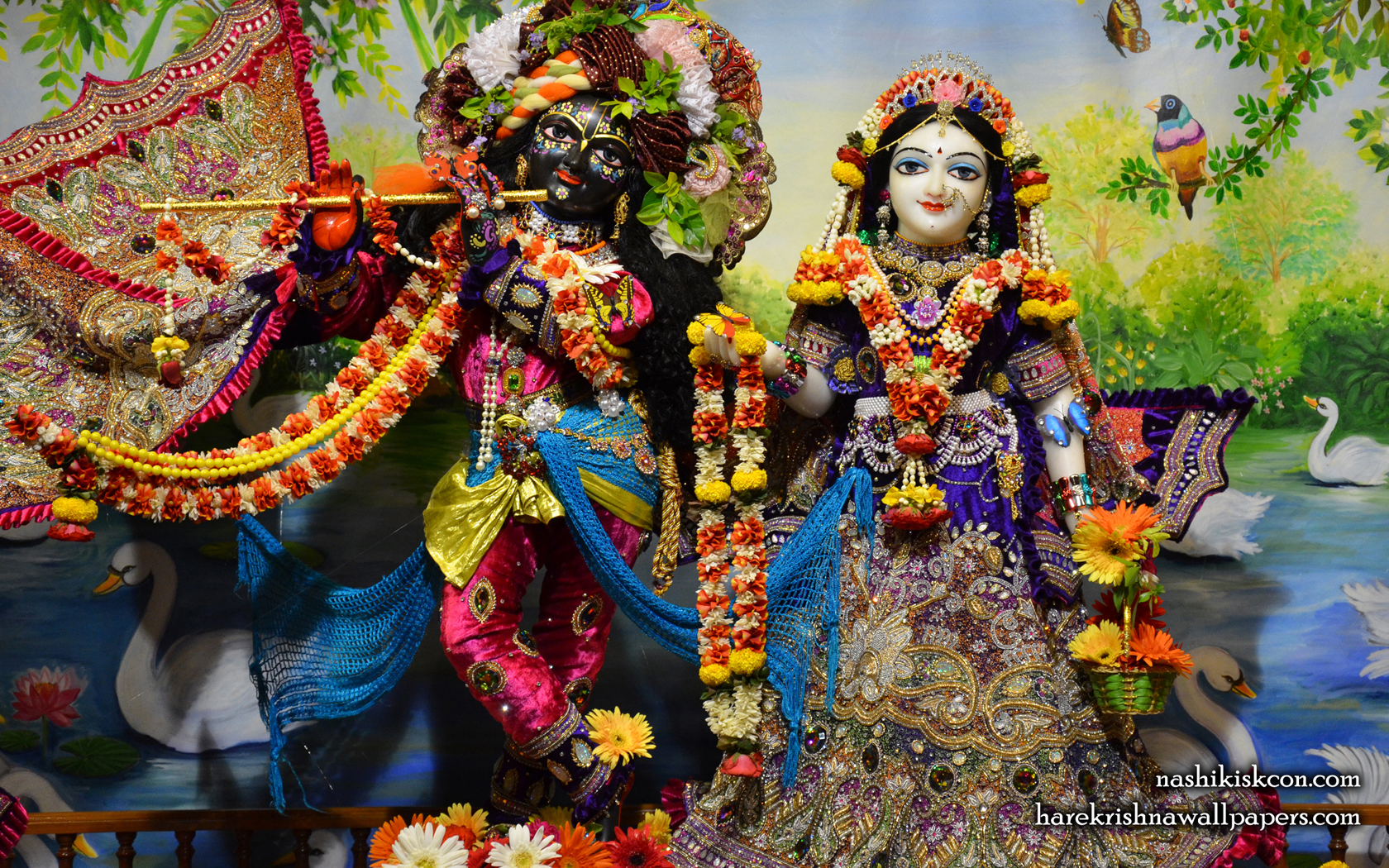 Sri Sri Radha Madan Gopal Wallpaper (003) Size 1680x1050 Download