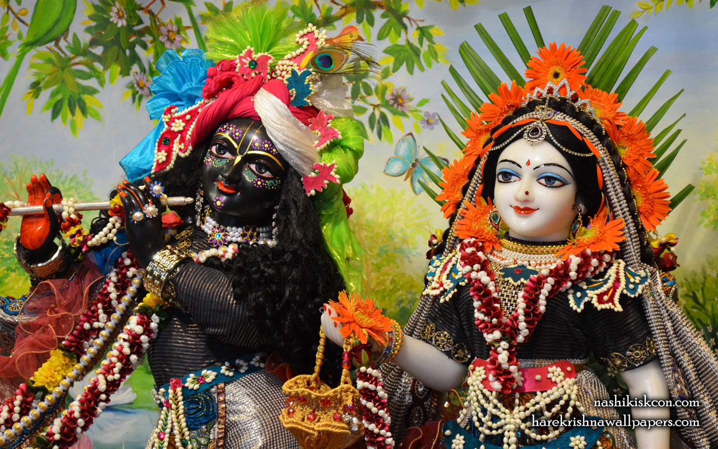 Sri Sri Radha Madan Gopal Close up Wallpaper (003) Size 1440x900 Download