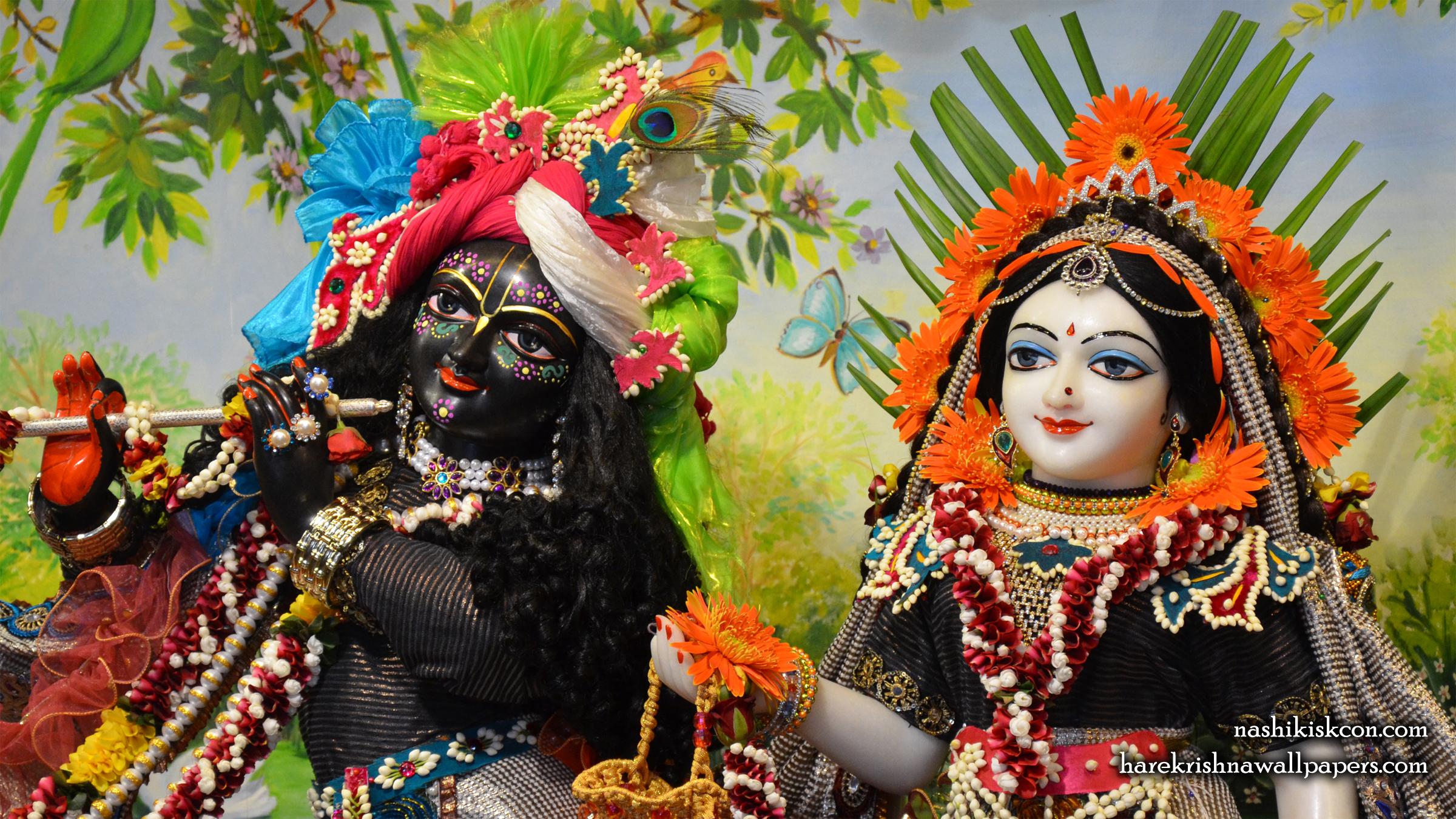 Sri Sri Radha Madan Gopal Close up Wallpaper (003) Size 2400x1350 Download
