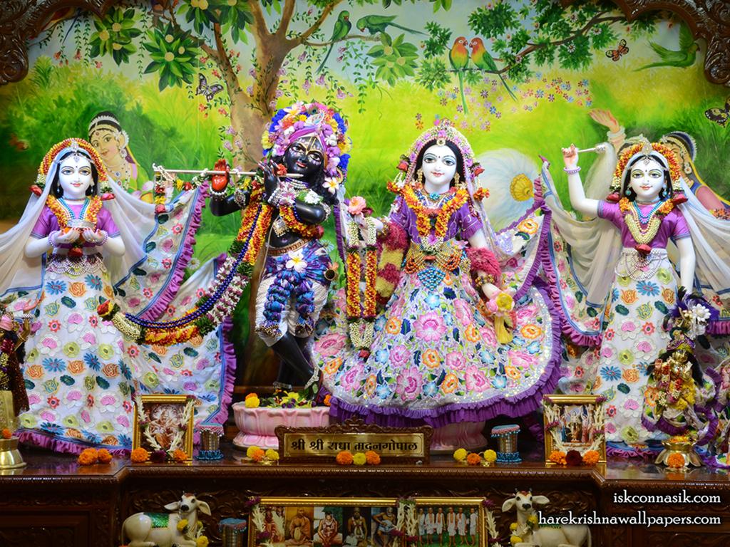 Sri Sri Radha Madan Gopal Lalita Vishakha Wallpaper (003) Size 1024x768 Download