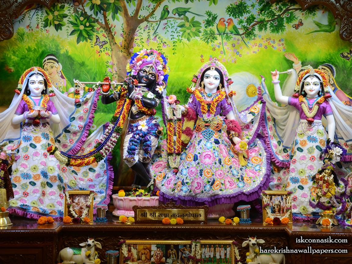 Sri Sri Radha Madan Gopal Lalita Vishakha Wallpaper (003) Size 1152x864 Download