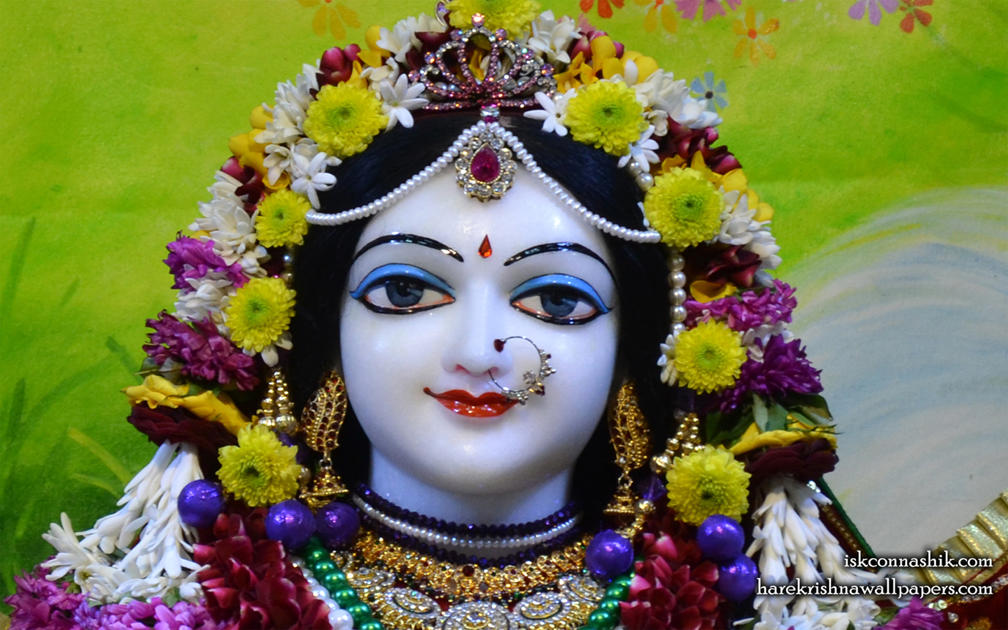 Sri Radha Close up Wallpaper (004) Size 1440x900 Download