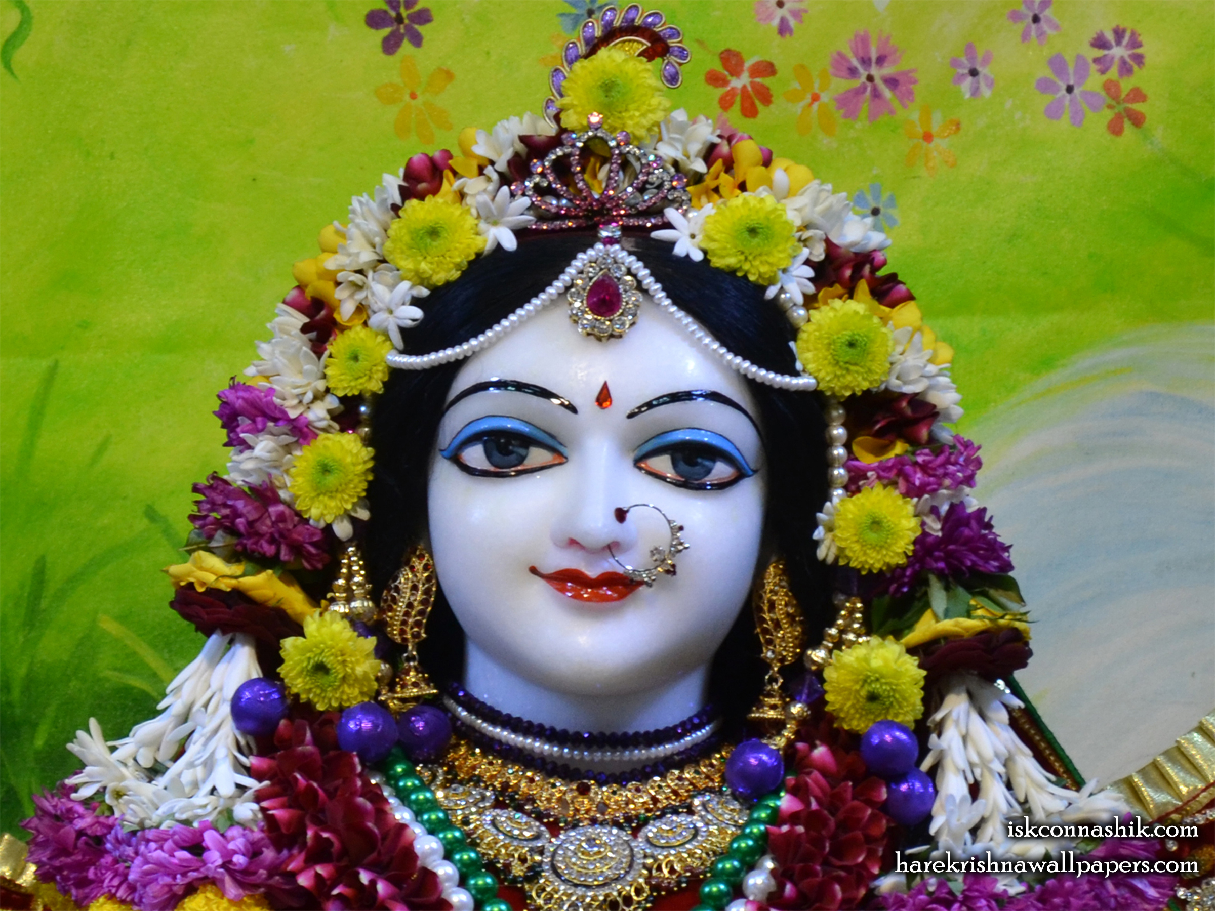 Sri Radha Close up Wallpaper (004) Size 2400x1800 Download