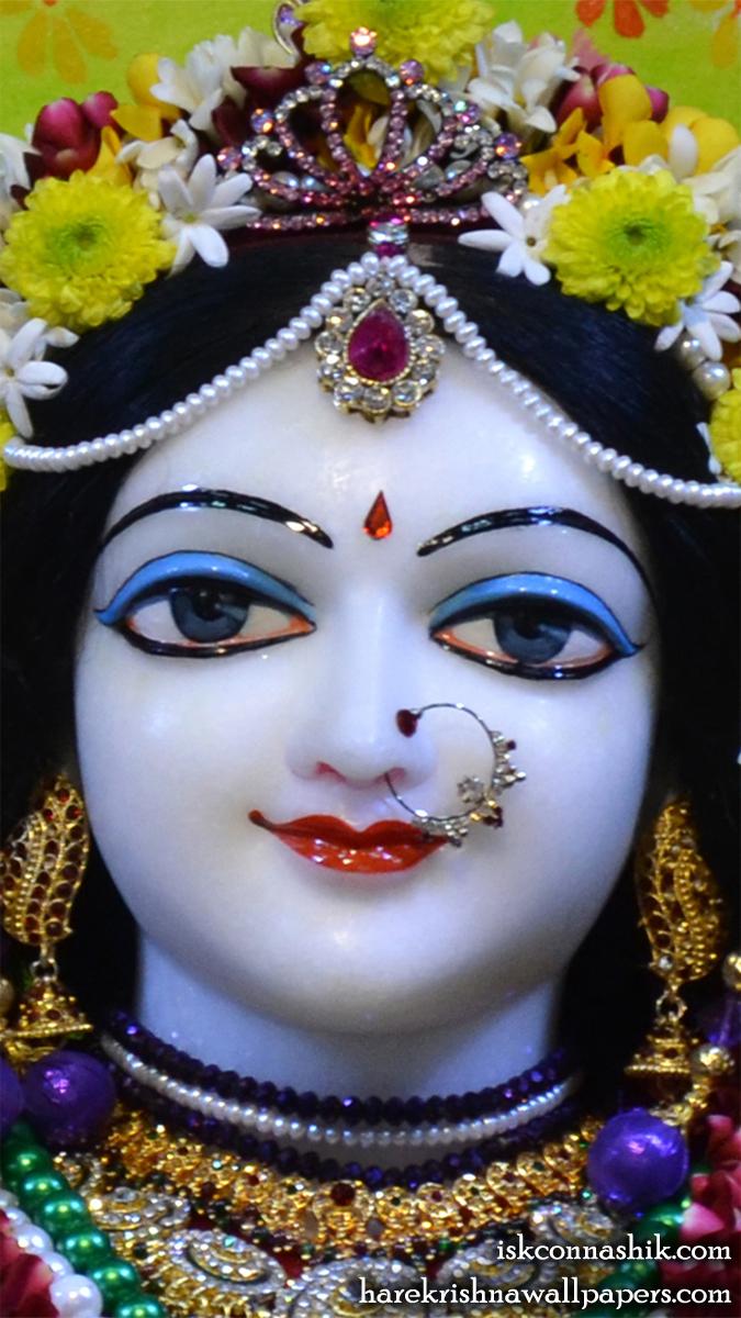 Sri Radha Close up Wallpaper (004) Size 675x1200 Download