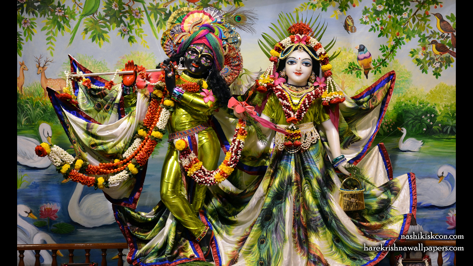Sri Sri Radha Madan Gopal Wallpaper (004) Size 1600x900 Download